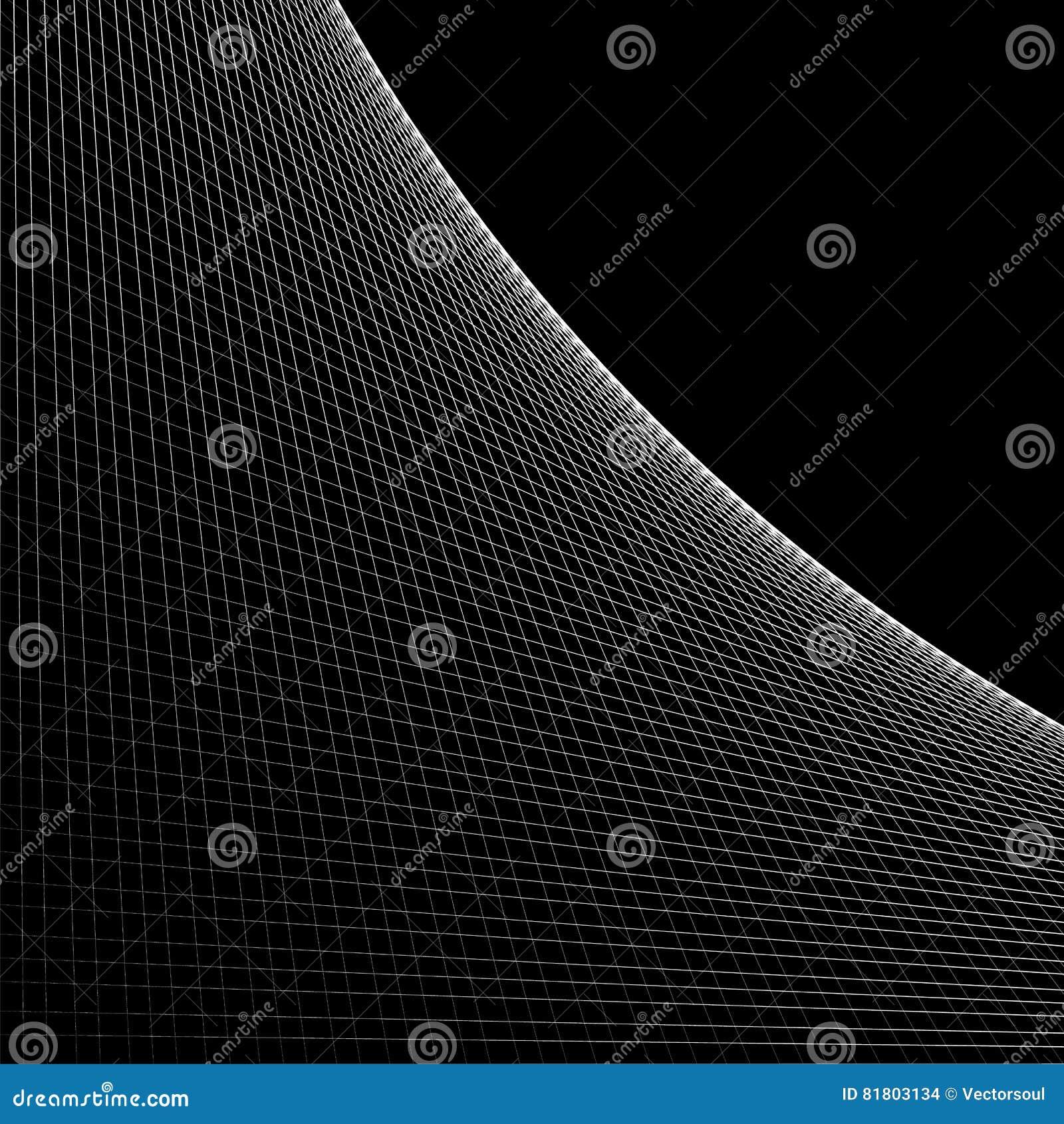 Решетка, сетка пересекать выравнивается с кривой, дугой распространяя от