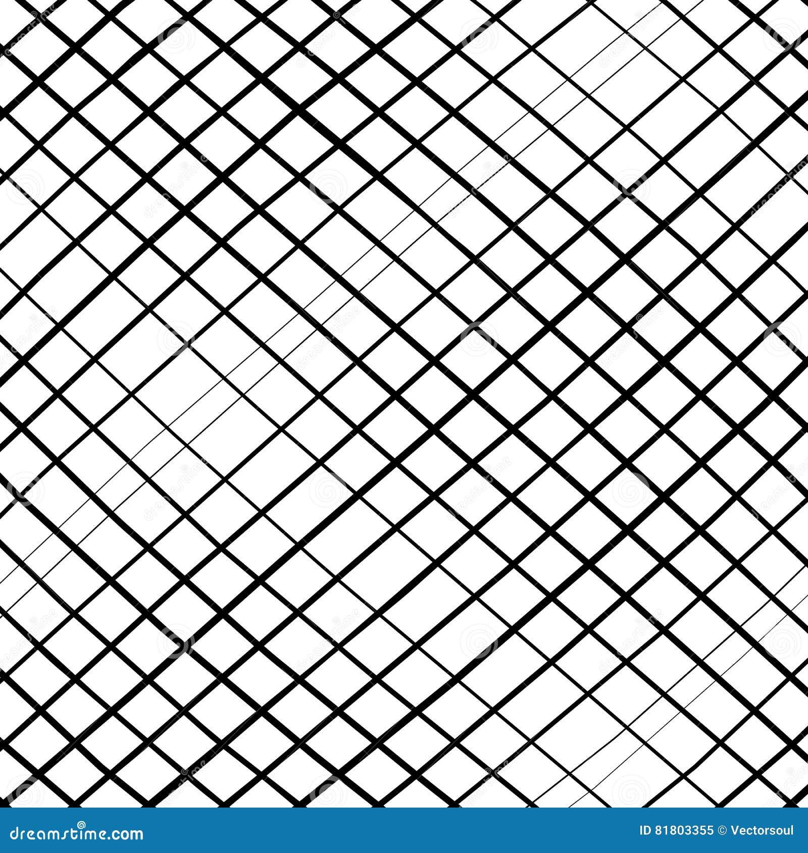 Решетка, сетка, пересекая выравнивает картину с выпуклым искажением L