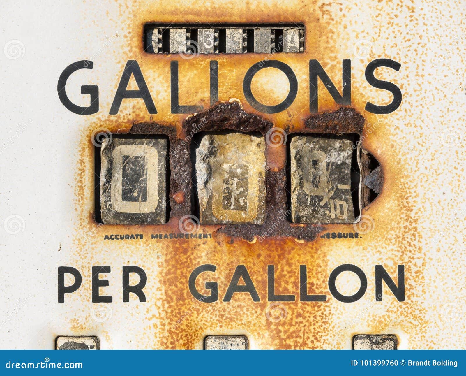 Ржавый метр газового насоса