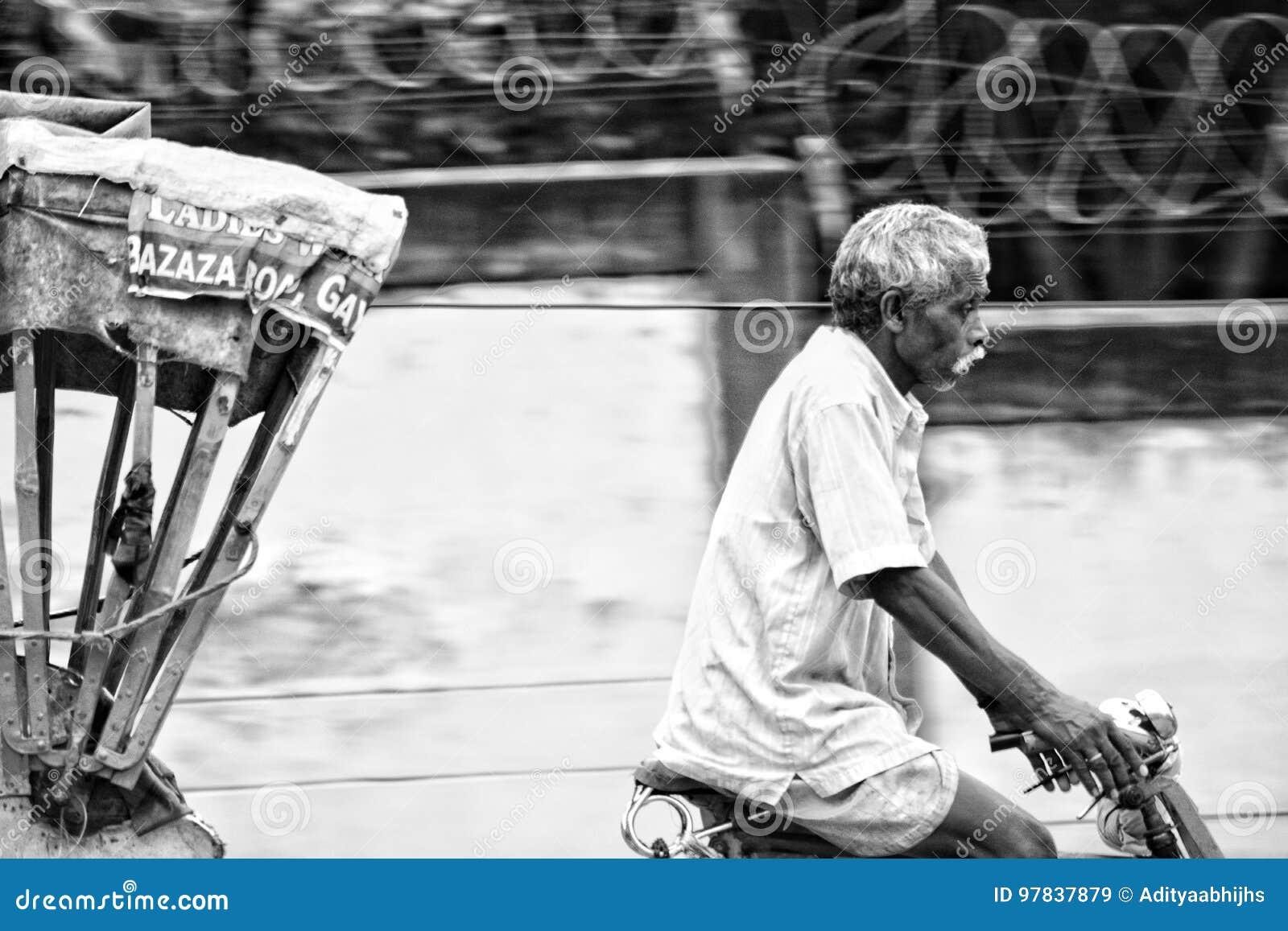 Рикша нерезкости движения