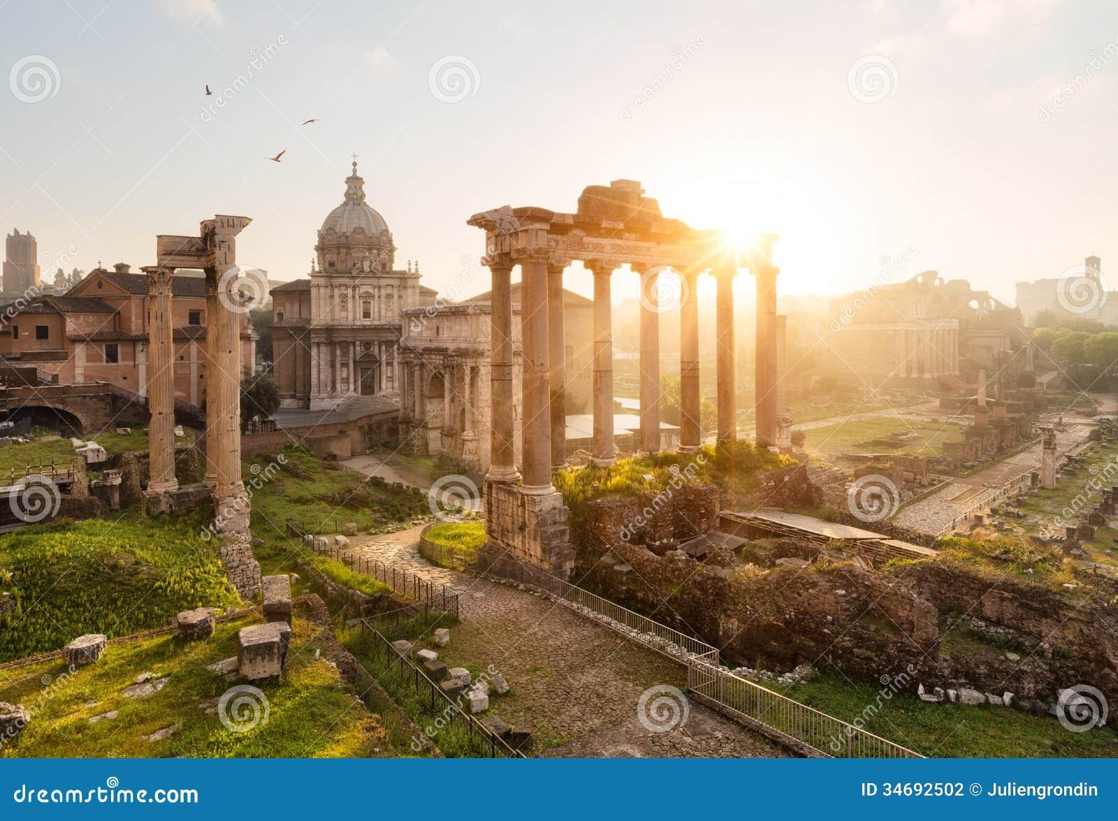 Римские руины в Риме, форуме