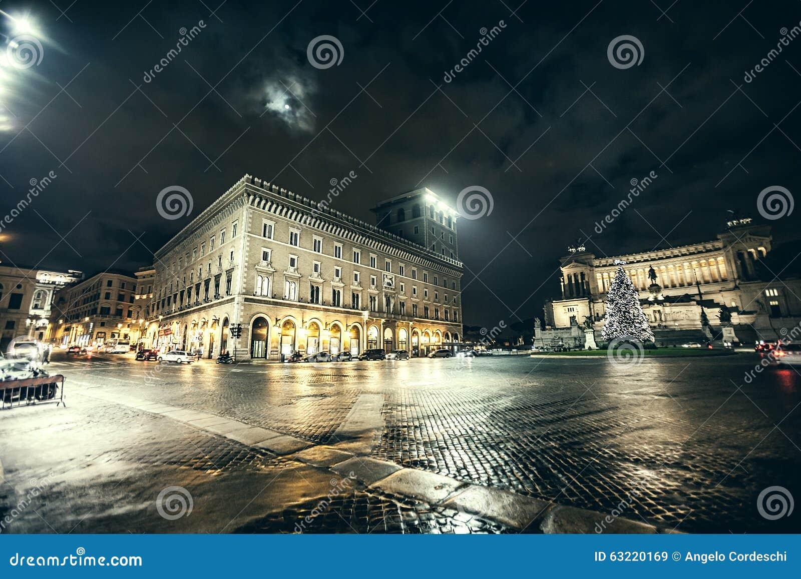 Рим, аркада Venezia на рождестве ноча рождество моя версия вектора вала портфолио