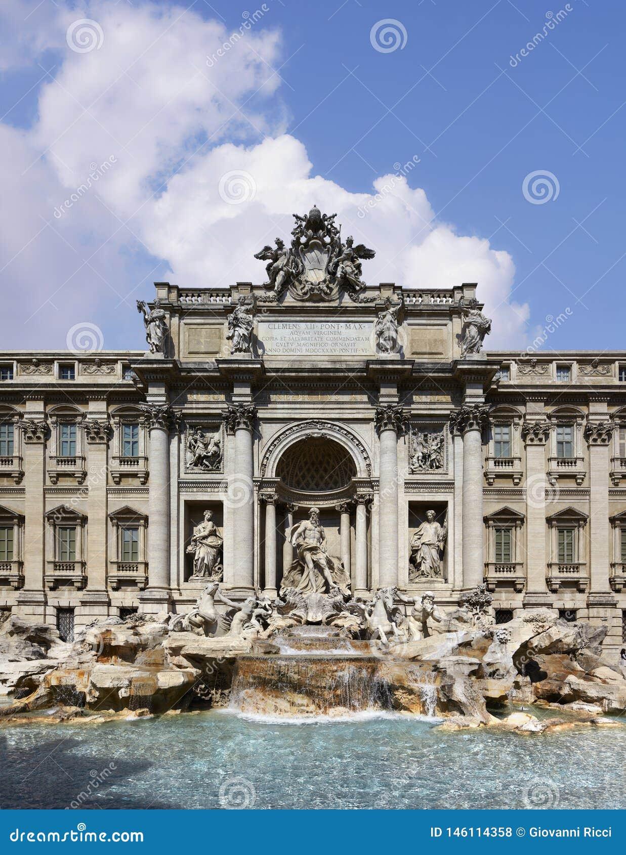Рим, фонтан Trevi