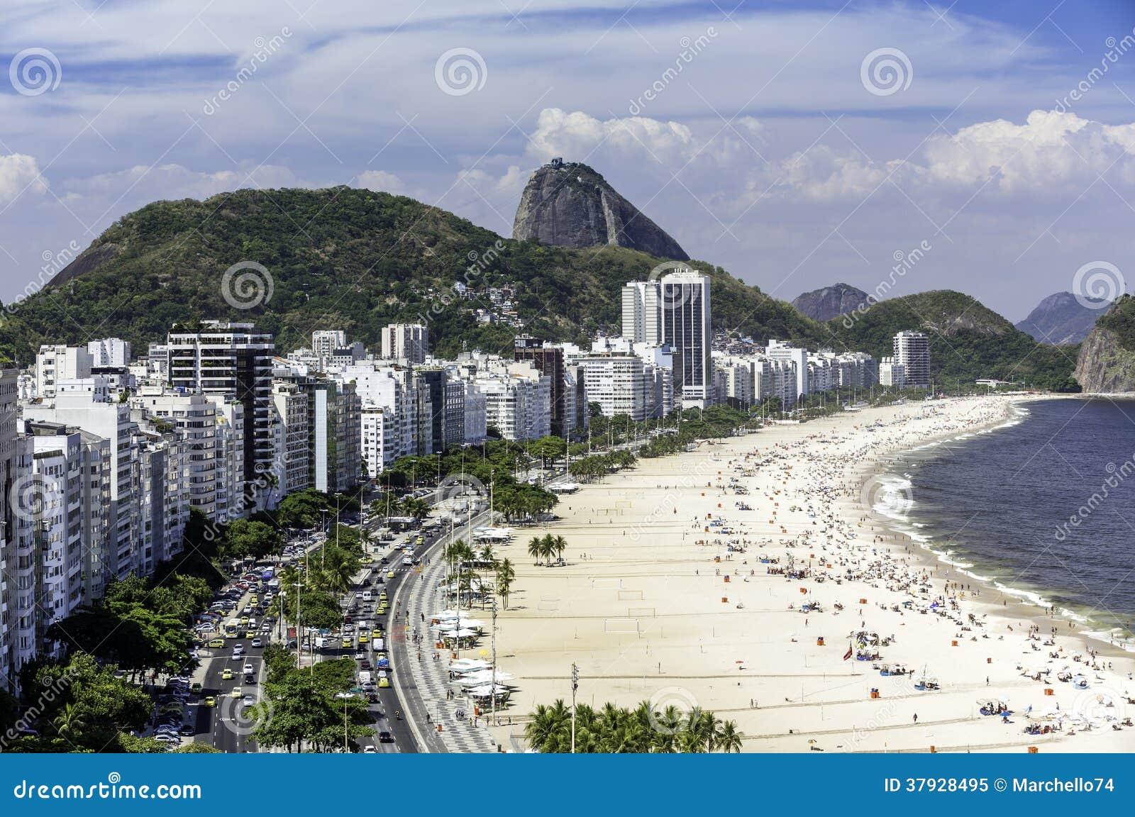 Рио-де-Жанейро, Бразилия - пляж Copacabana