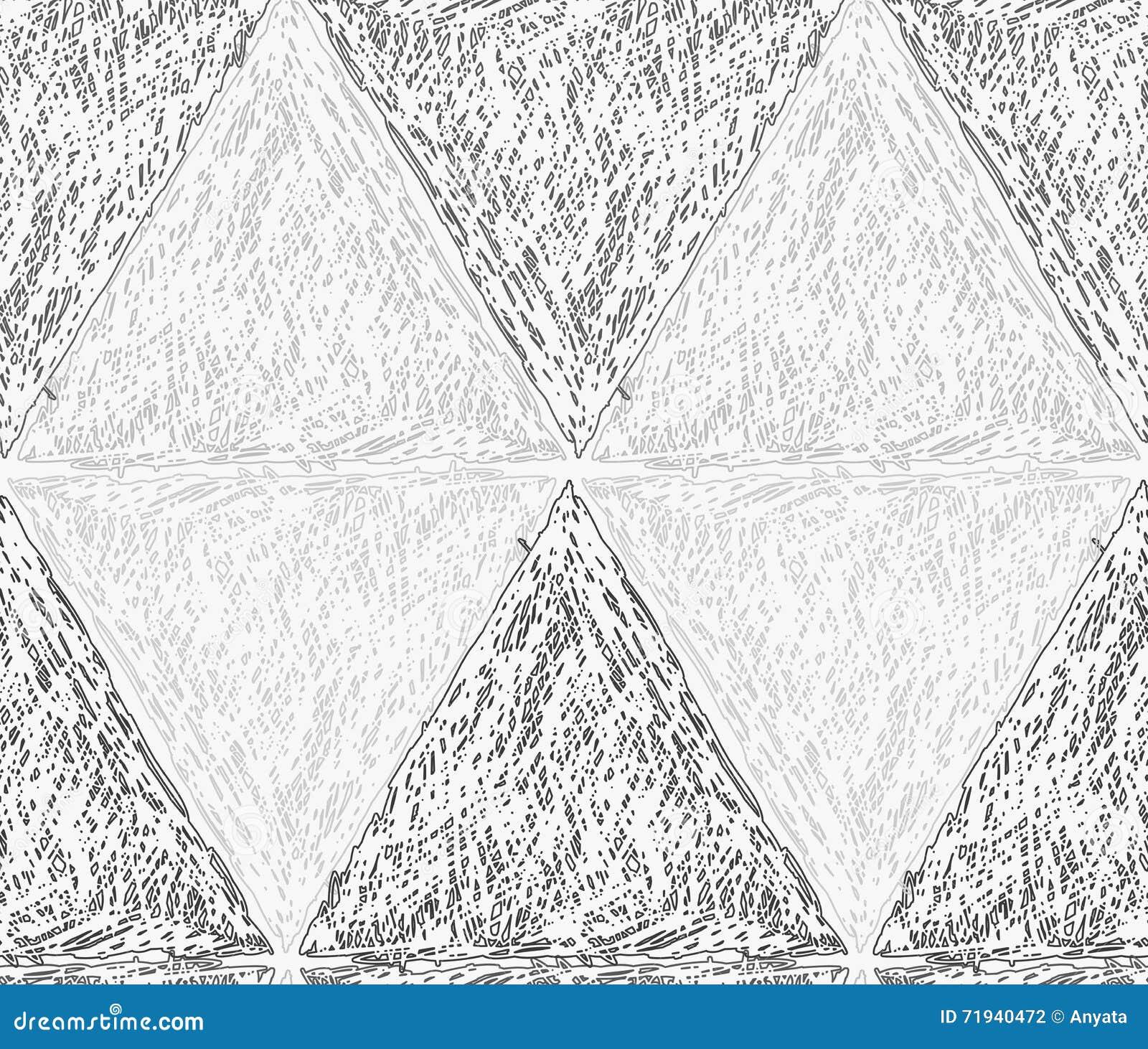 Рисуйте насиженные свет и темноту - серые треугольники в строке формируя diam