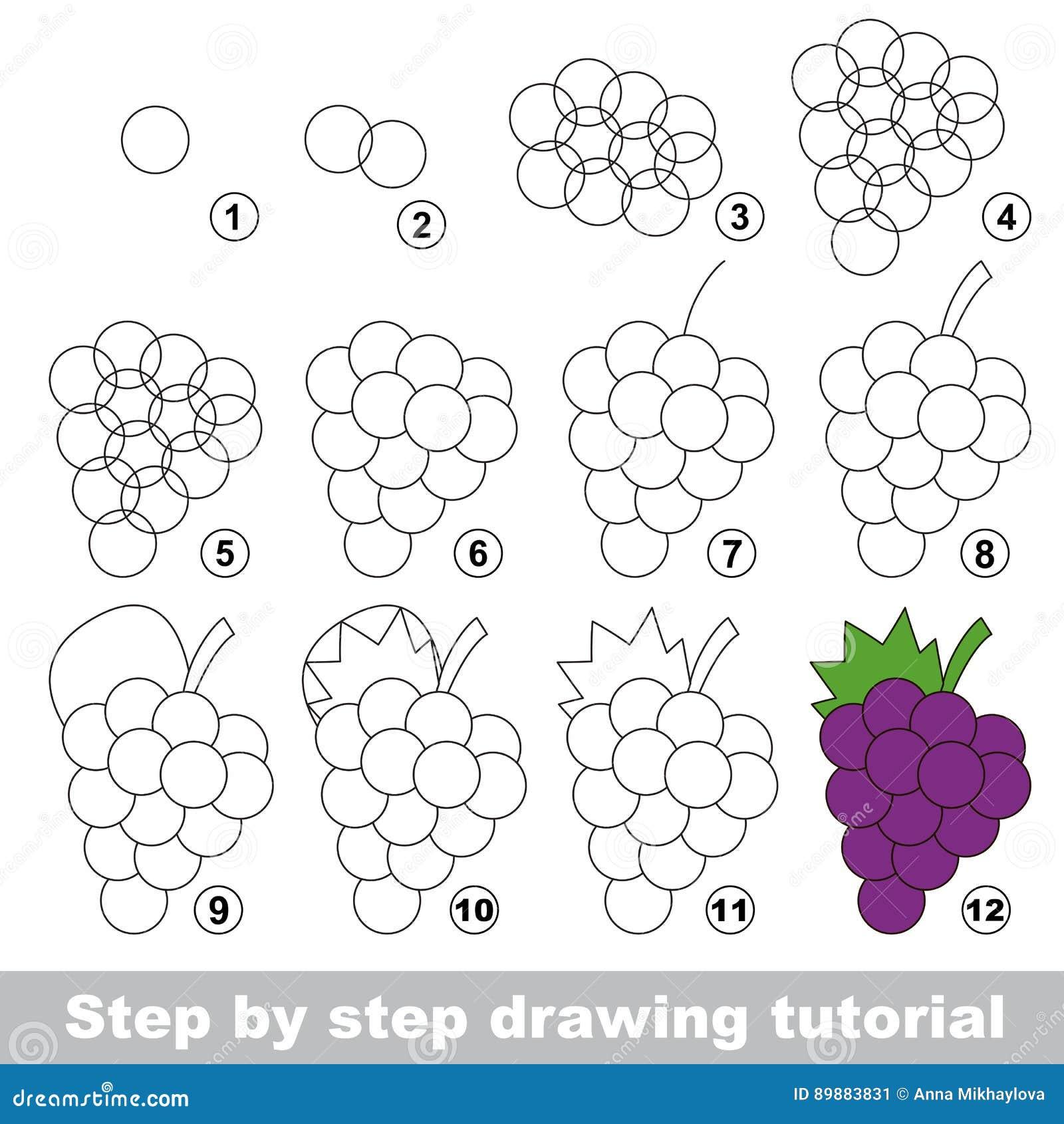 Рисуя консультация виноградины зрелые