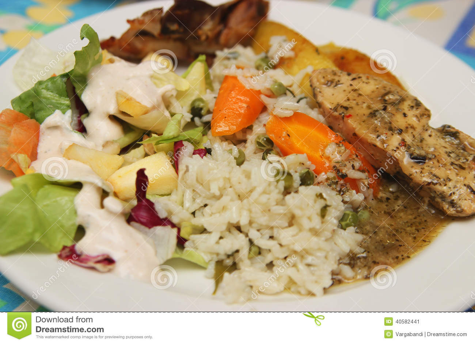 Рис и куриная грудка