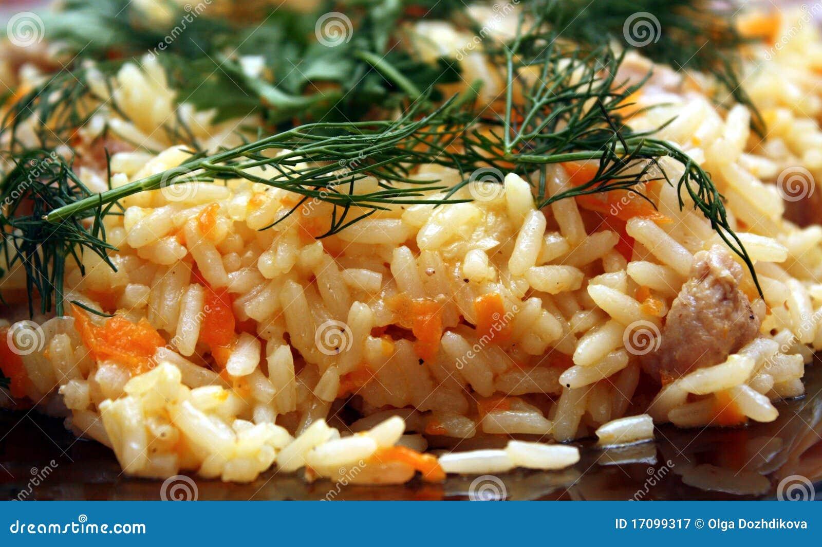 рис мяса