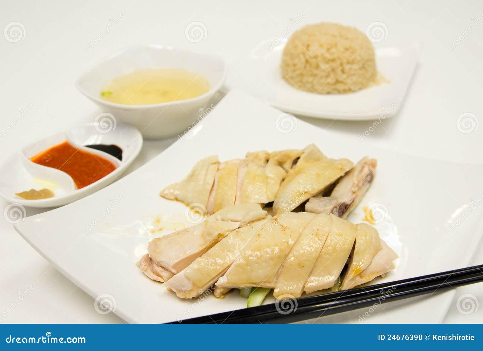 Курица хайнань с рисом жасмин