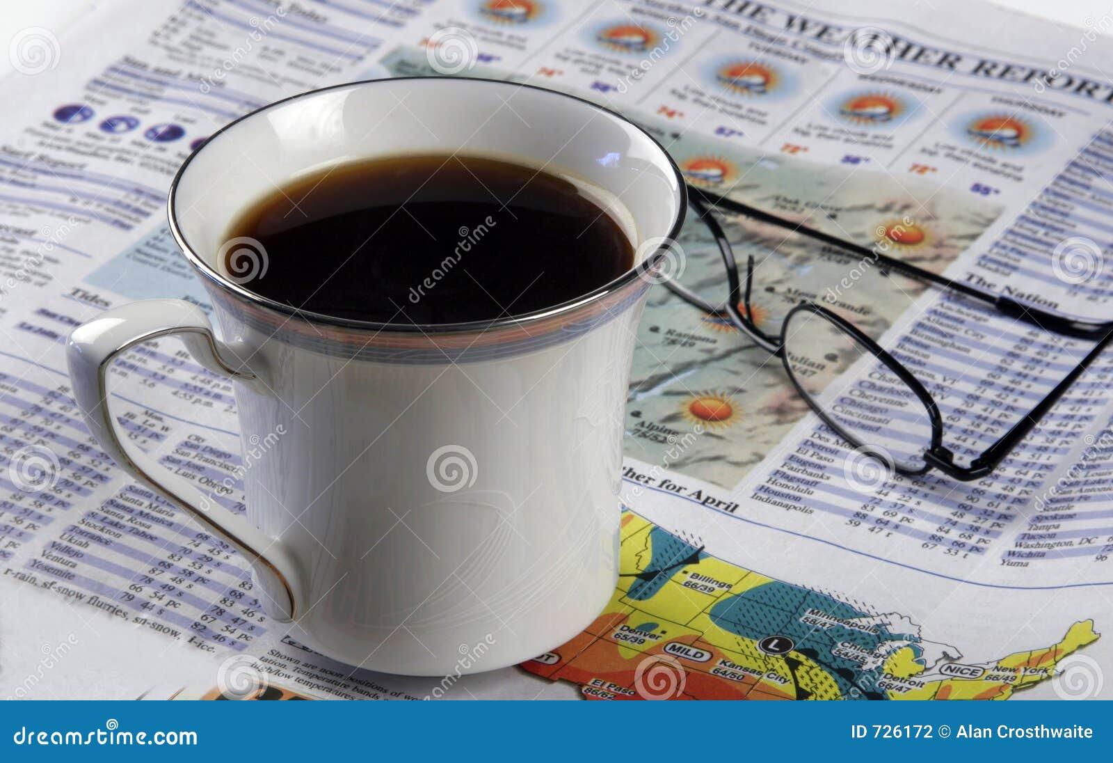 ритуалы газеты утра кофе горячие