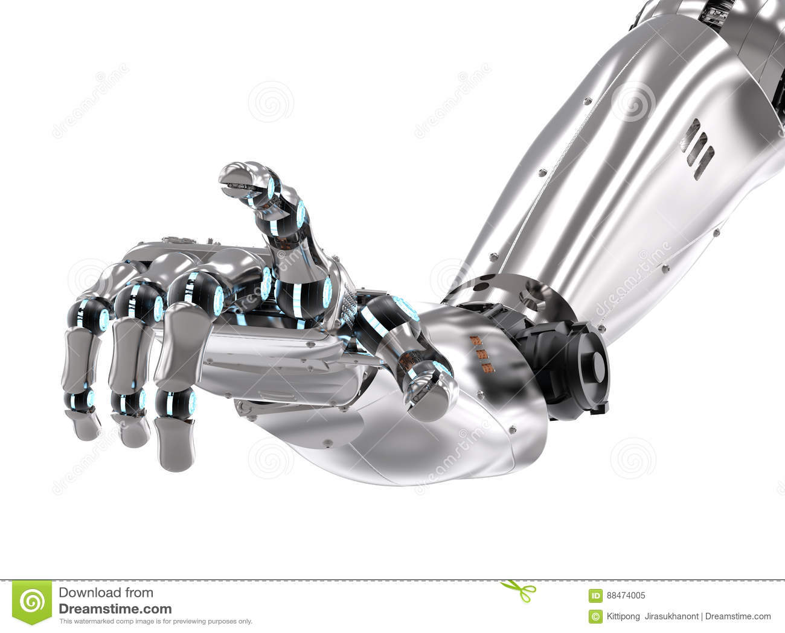 Робототехнический указывать руки