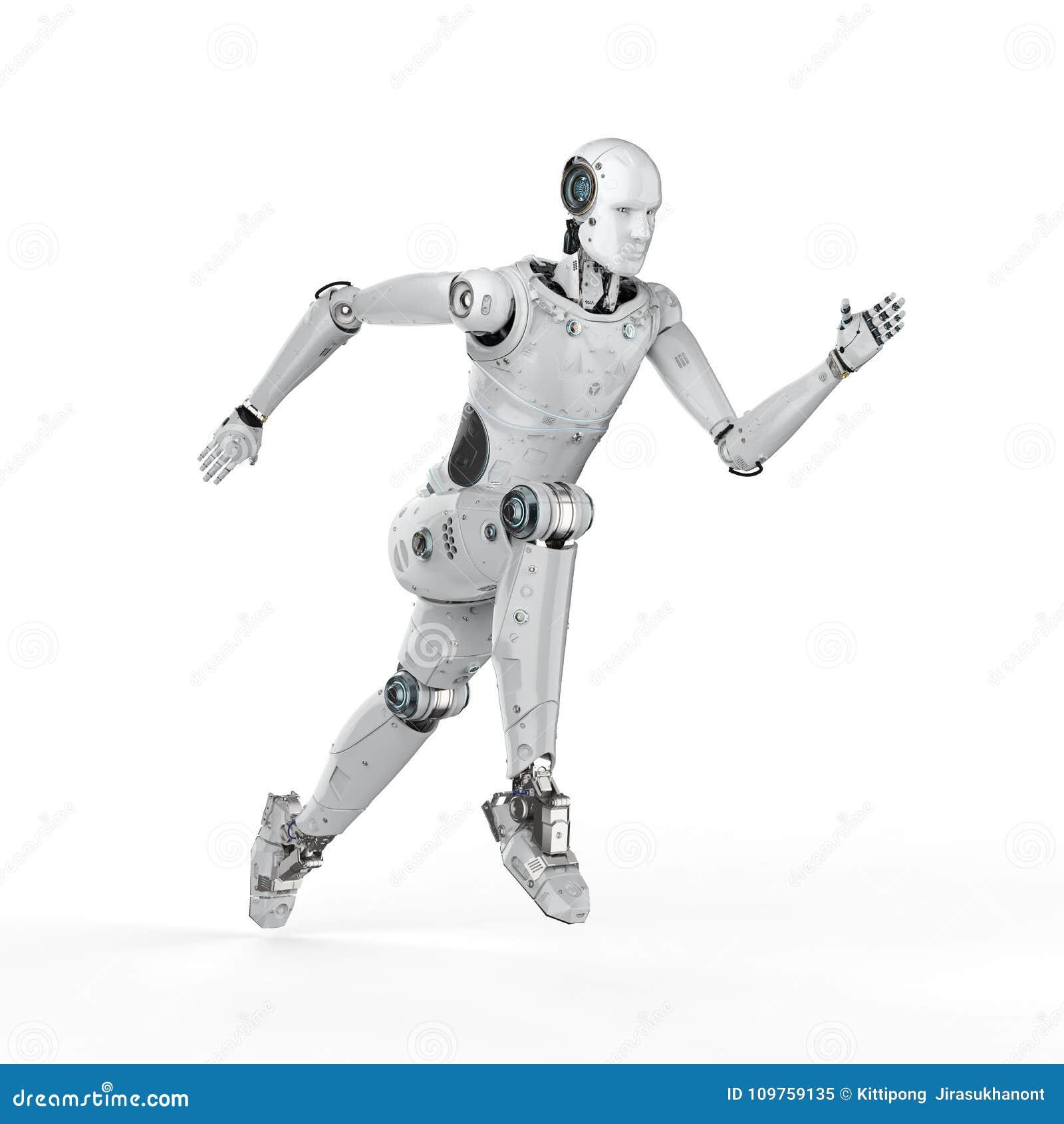 Робот скача или бежать