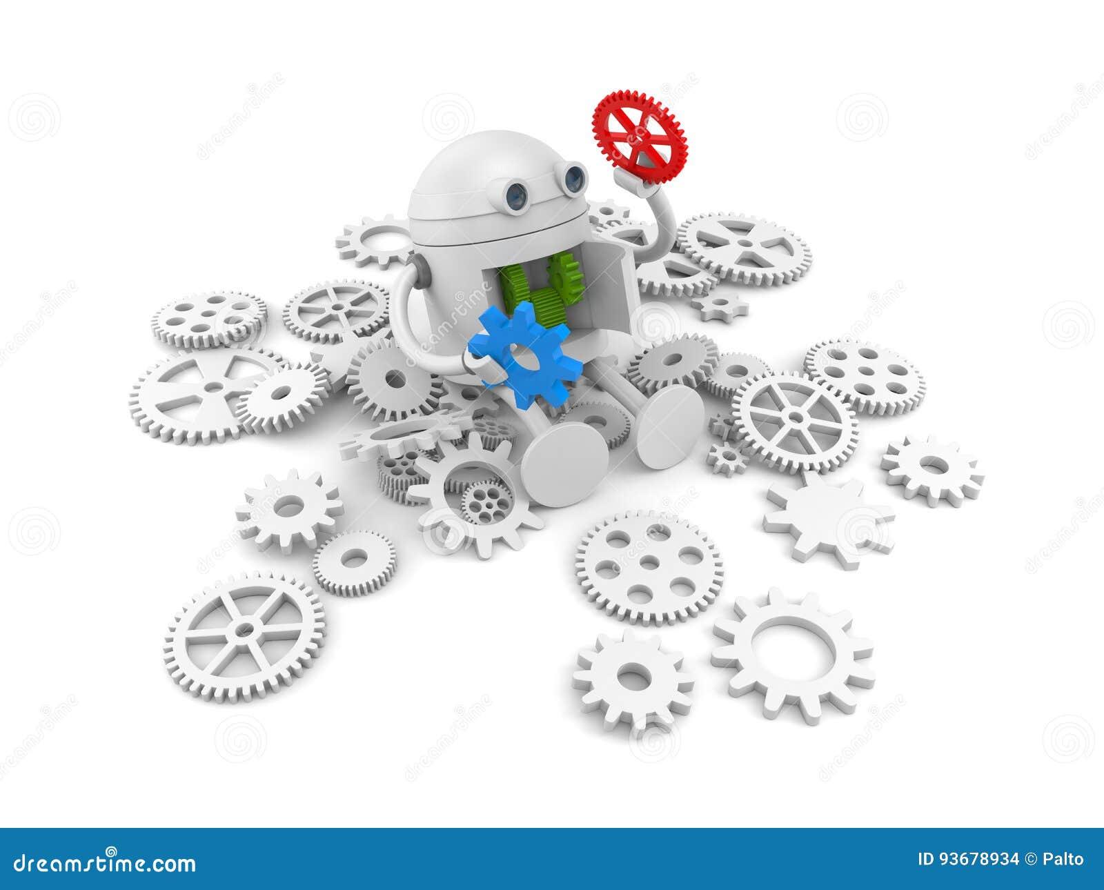 Робот с деталями своего механизма Для ваших проектов вебсайта