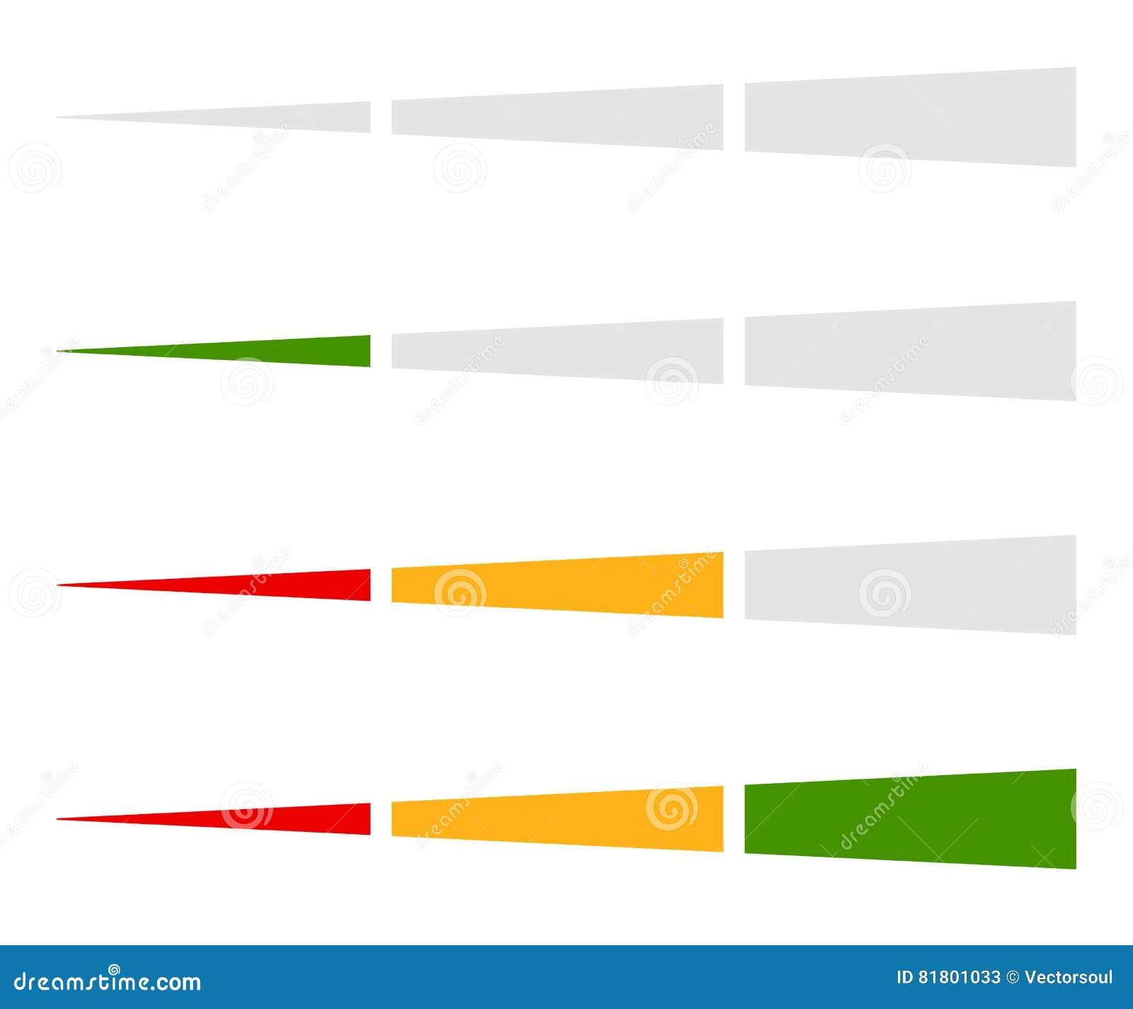 Ровный индикатор, элемент бара прогресса в комплекте