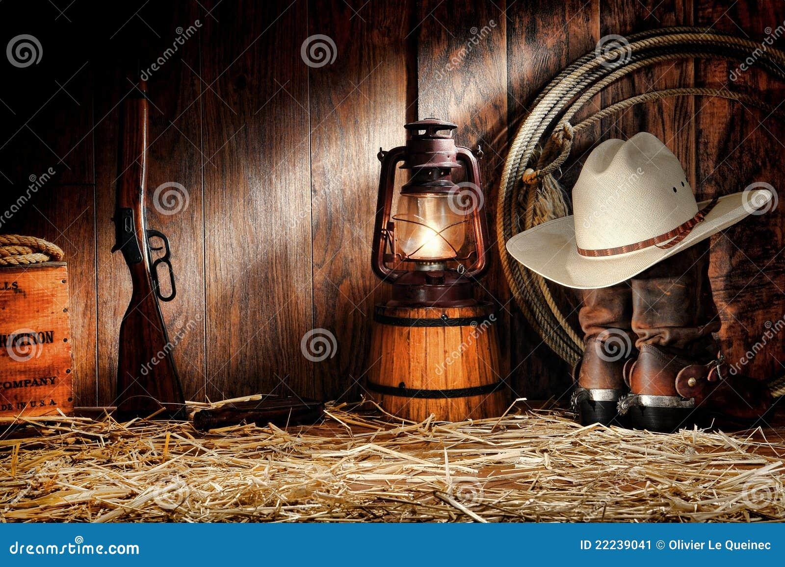 родео ranching американского амбара старое оборудует запад