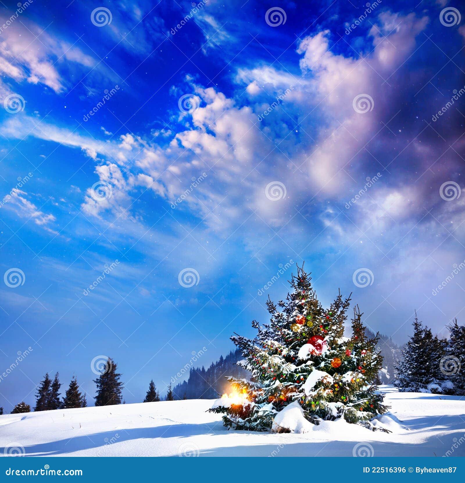 Рождественская елка с светами