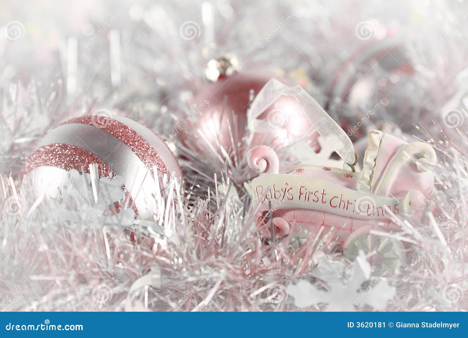 рождество первый розовый s младенца