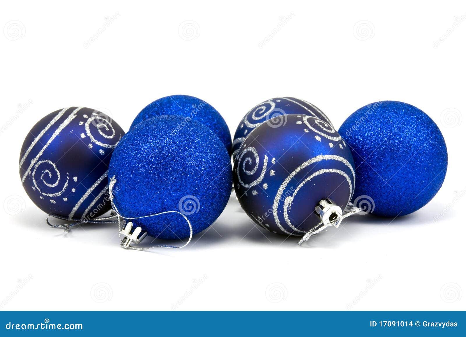 рождество сини baubles