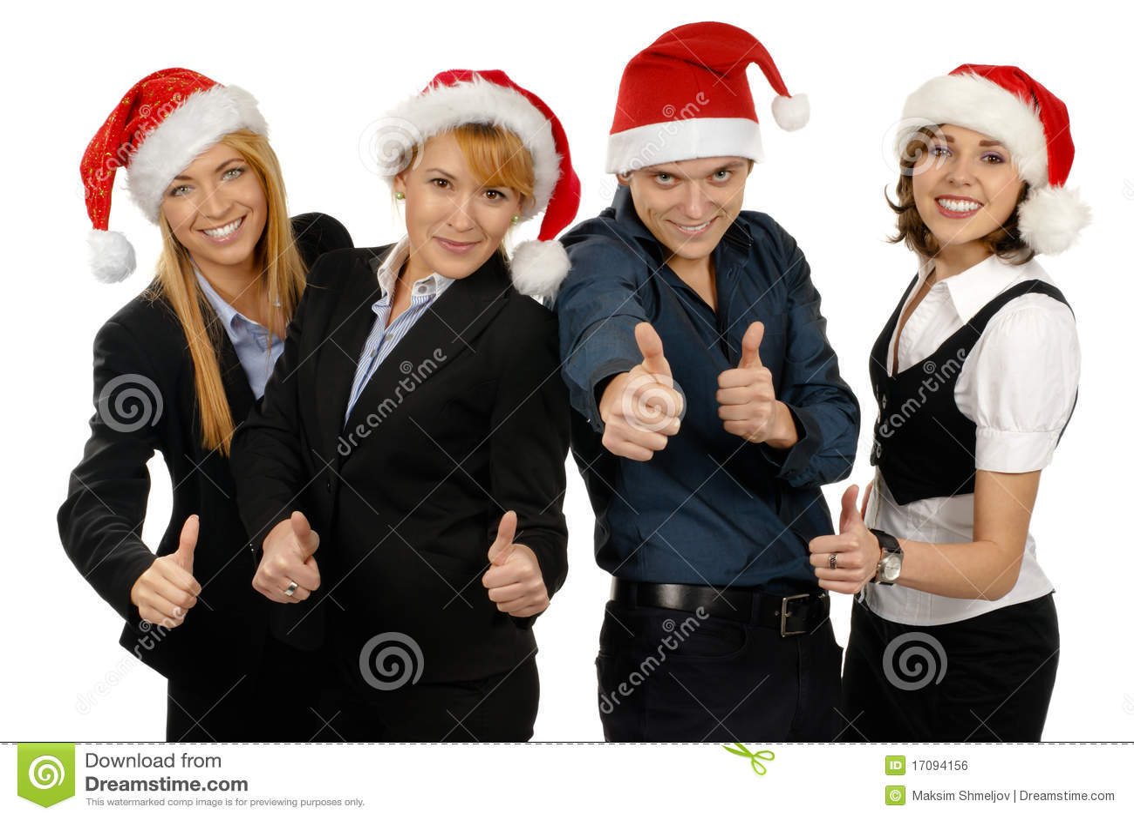 рождество businesspersons 4 шлема молодого