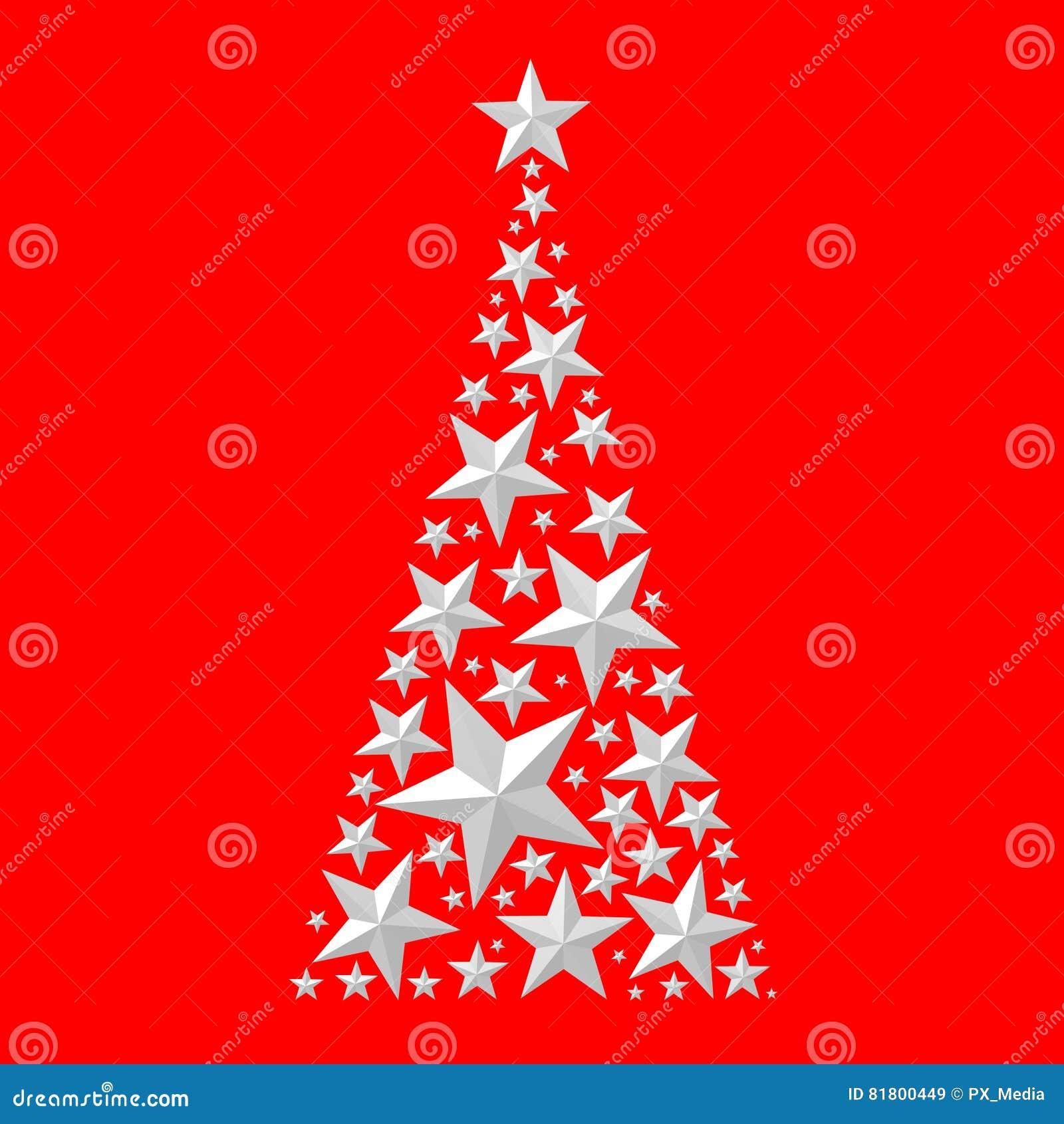 Рождественская открытка - дерево christas