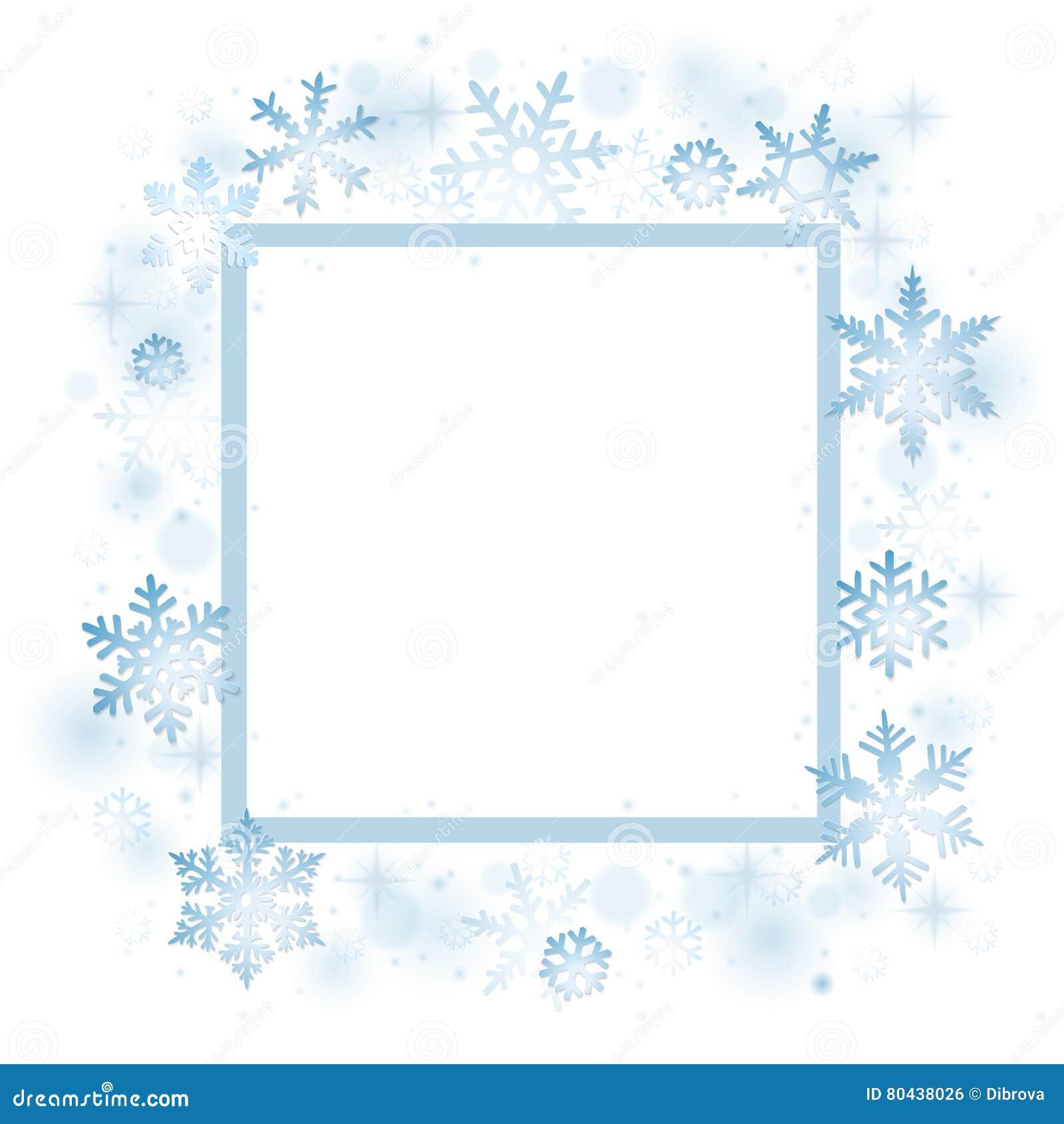 Рождественская открытка снежинок