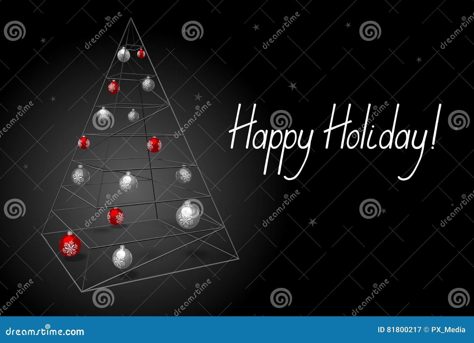 Рождественская открытка - счастливый праздник