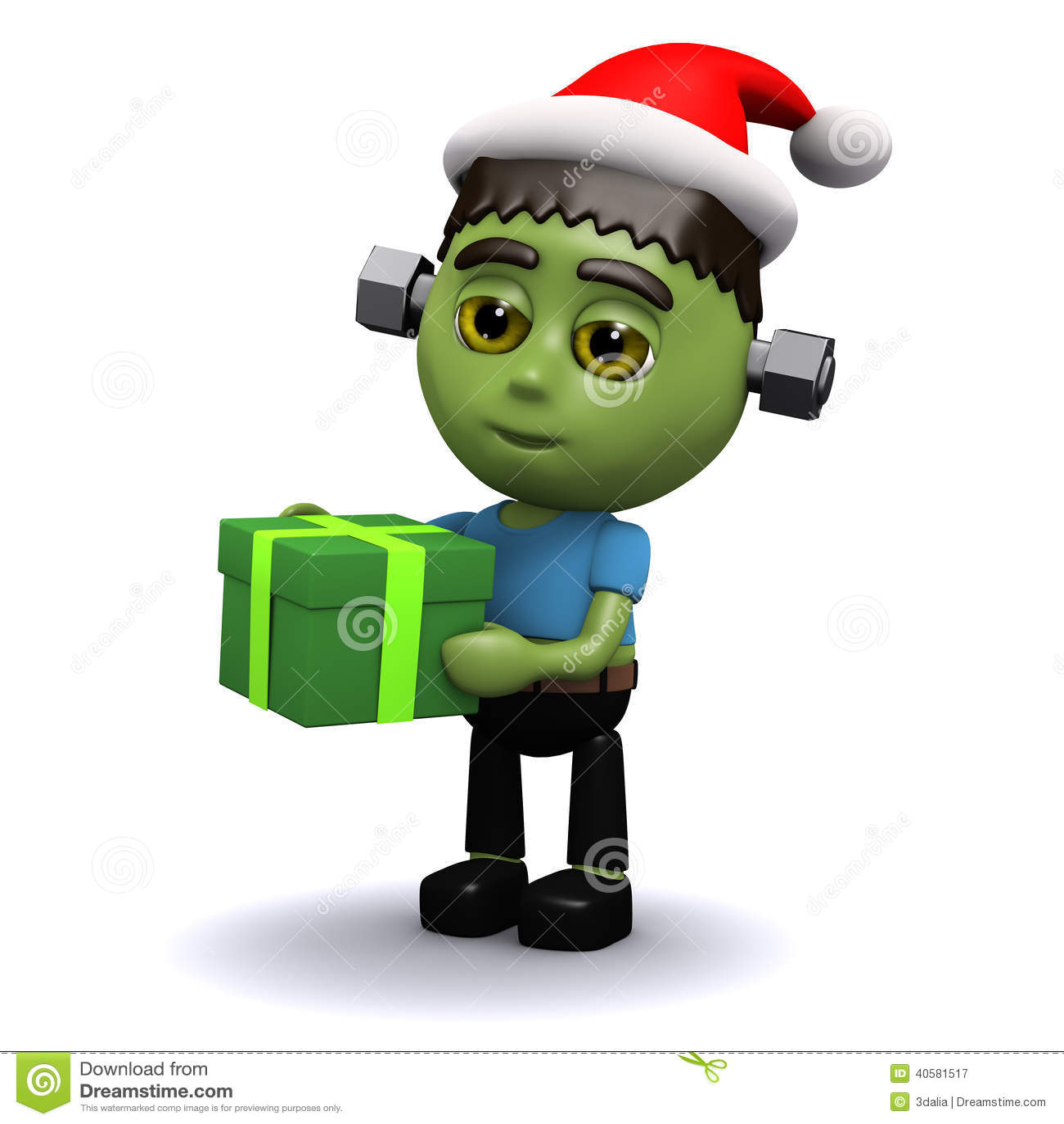рождество 3d Frankenstein