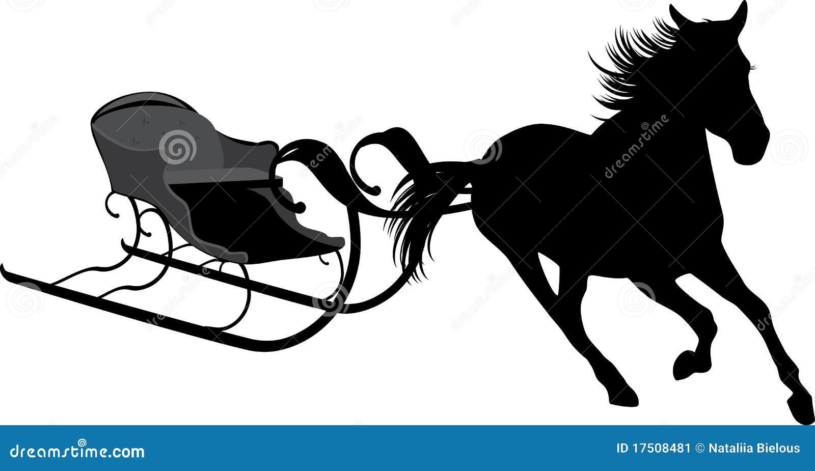 дед мороз на санях с лошадьми картинки силуэт ужасно себя