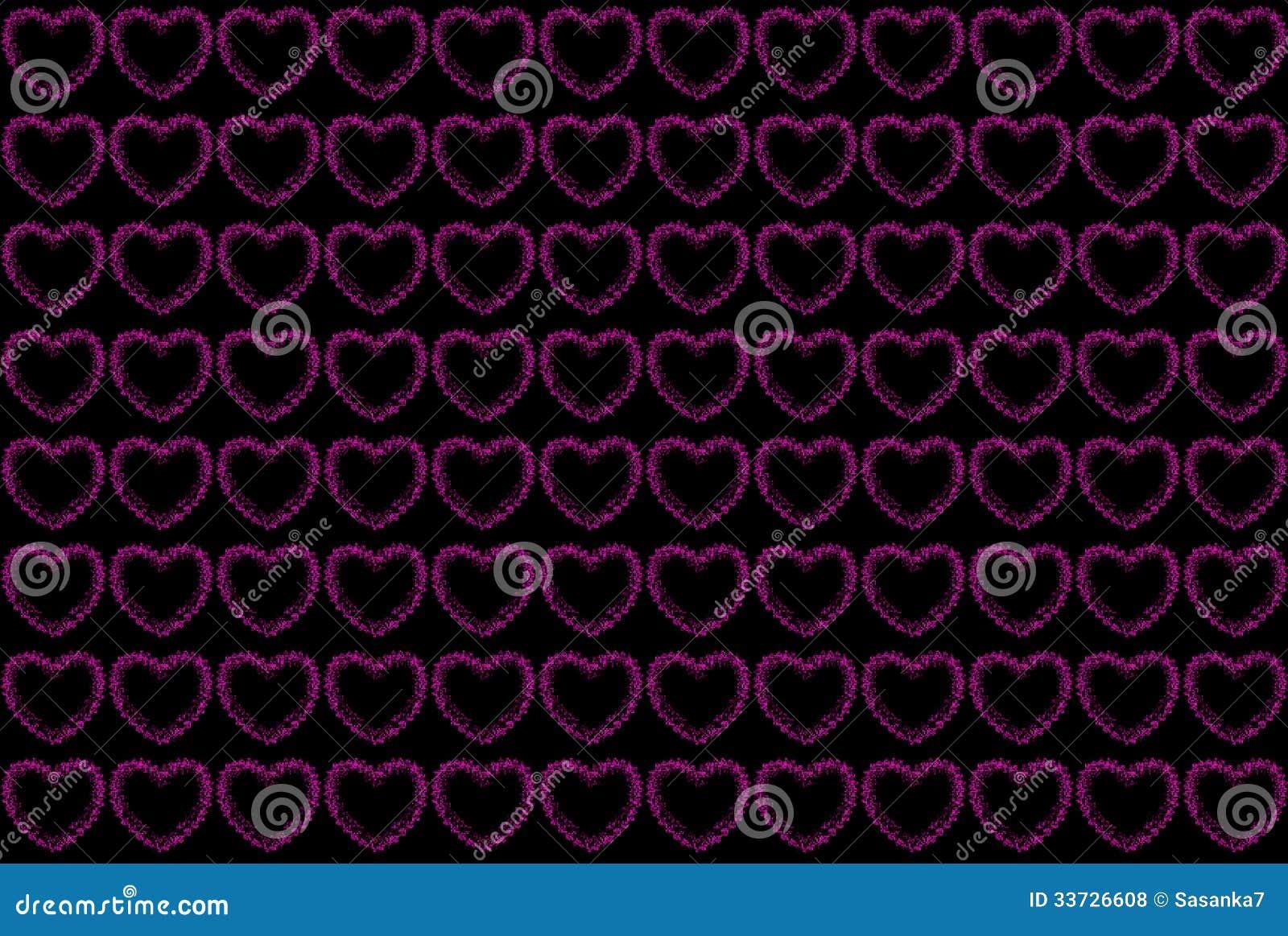 Розовая картина сердец