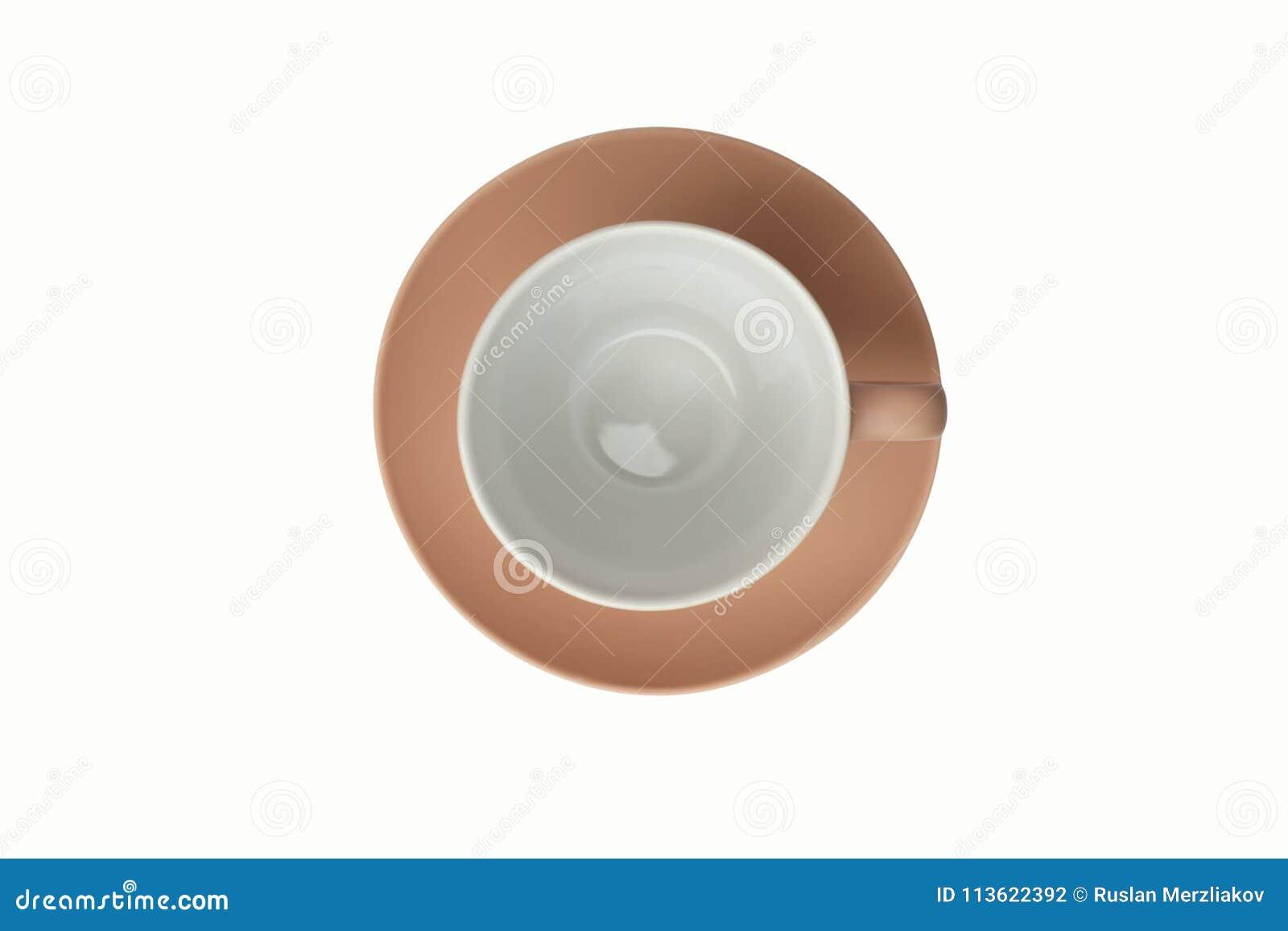 Розовая чашка на поддоннике