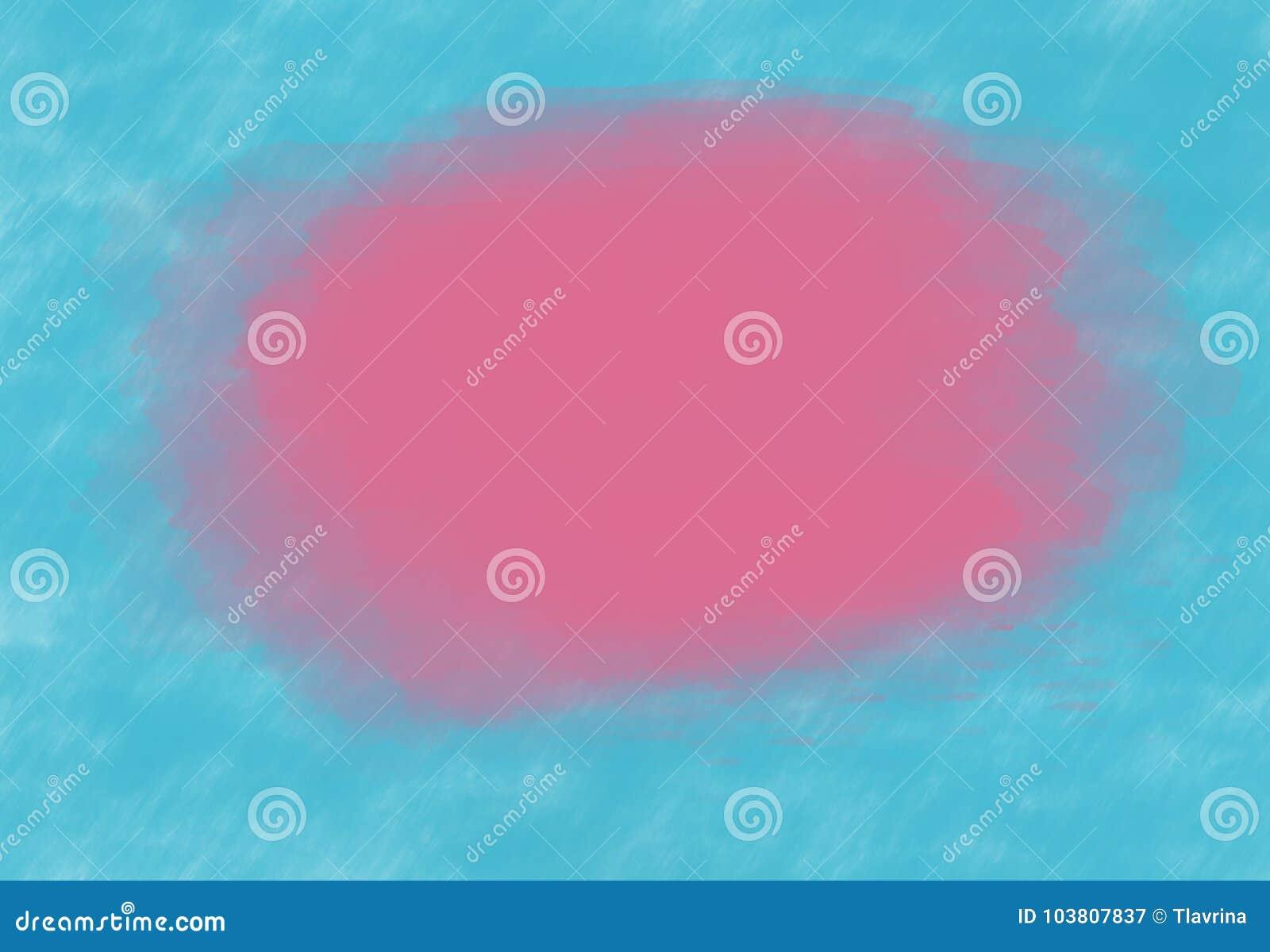 Розовое фиолетовое пятно акварели на предпосылке t бирюзы мяты teal