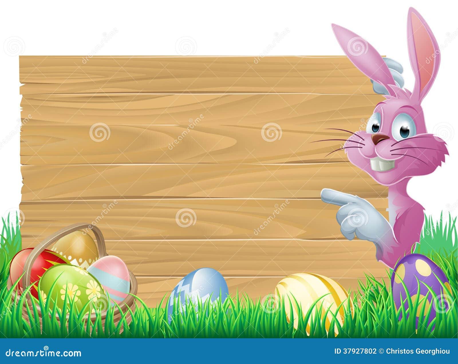 Розовый зайчик пасхи знака пасхальных яя