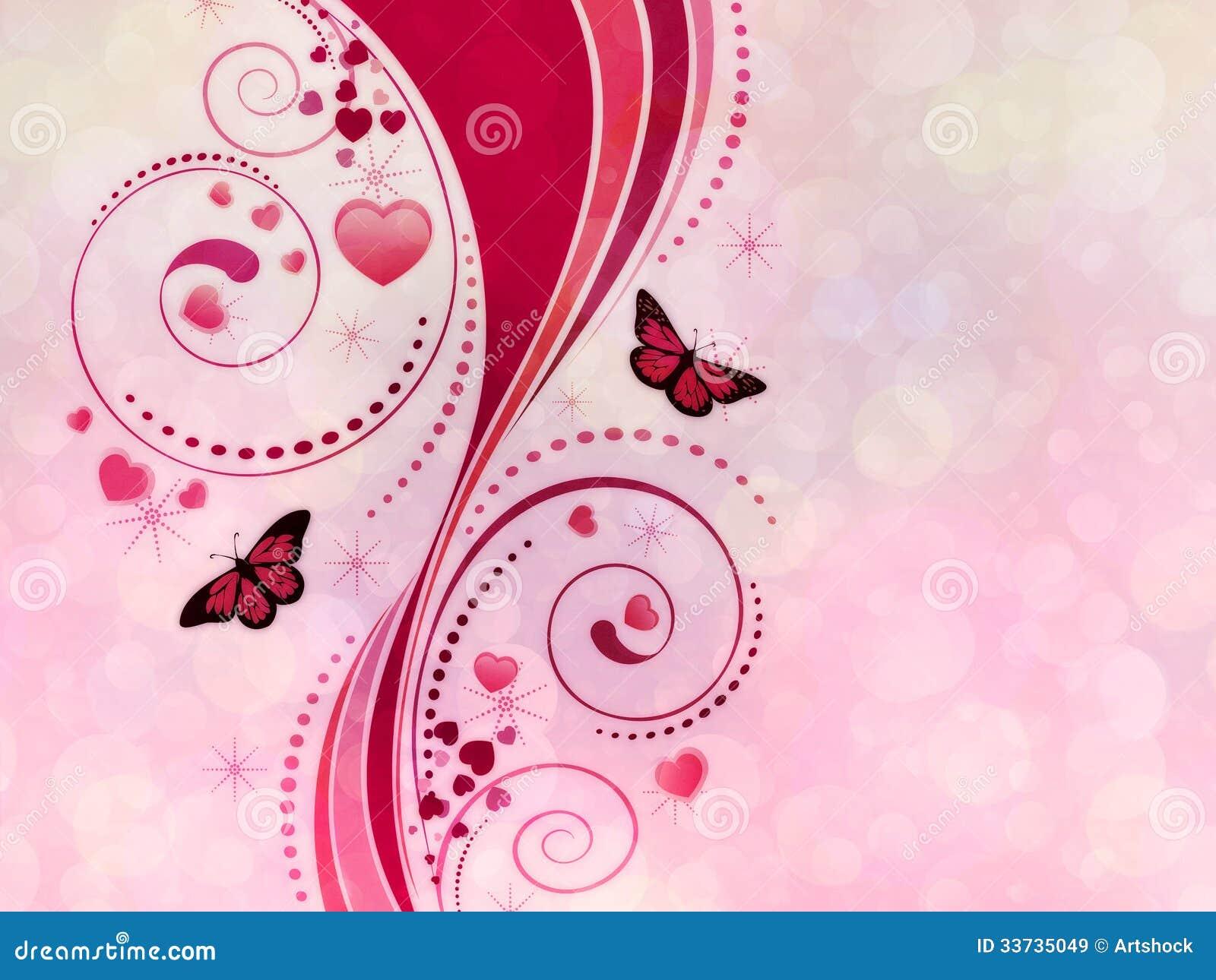 Розовый орнамент свирли