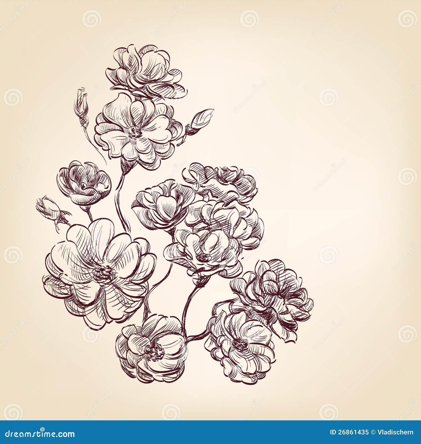 Нарисованные розы - 33986