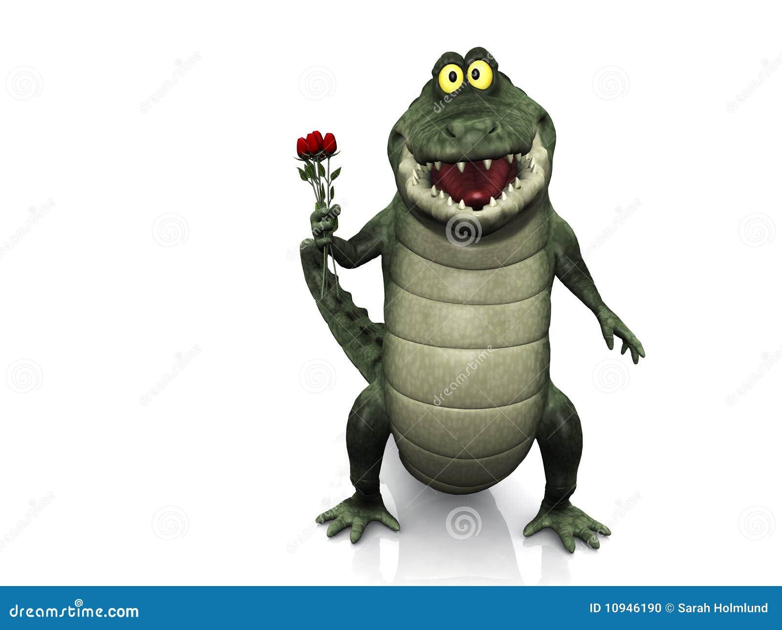 розы удерживания крокодила шаржа