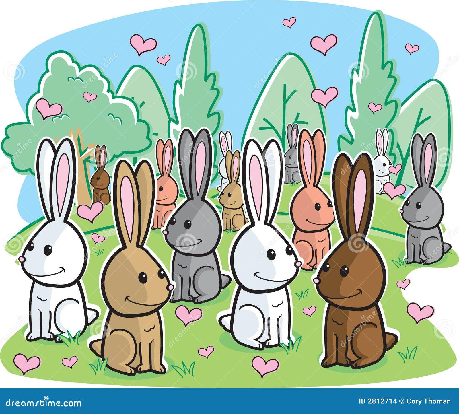 Картинка с зайцами пятью