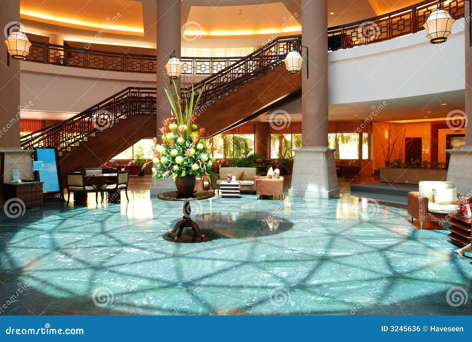 роскошь лобби гостиницы