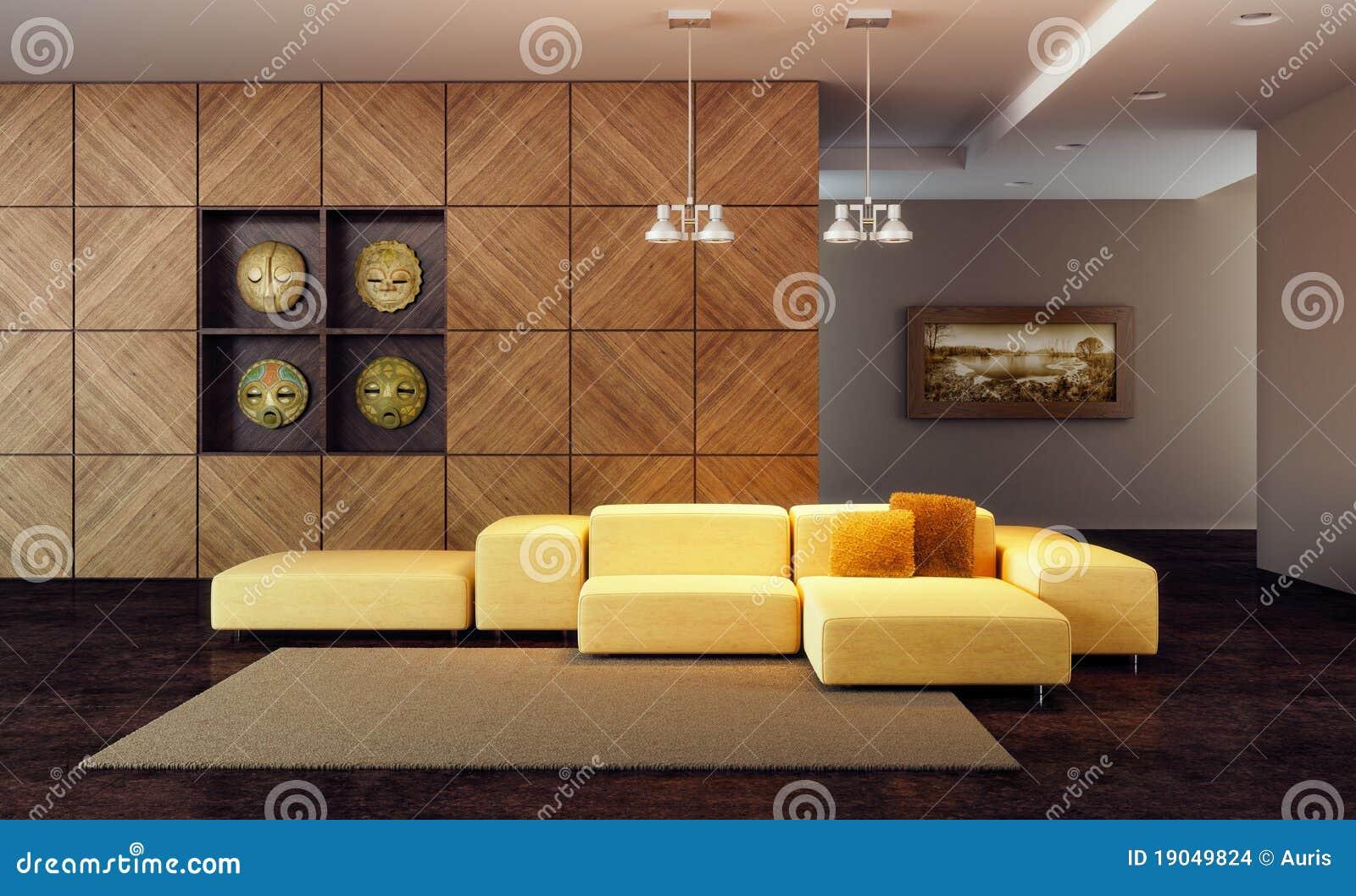 роскошь салона 3d представляет комнату