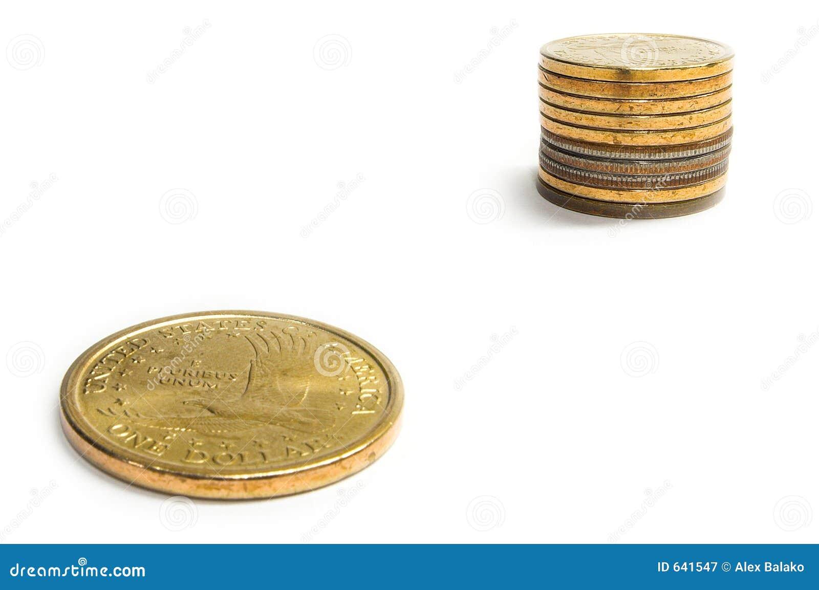 Download рост одно доллара стоковое изображение. изображение насчитывающей деньги - 641547