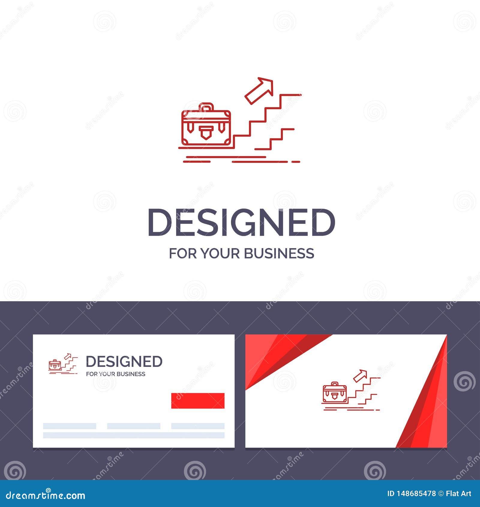 Рост творческого шаблона визитной карточки и логотипа, дело, карьера, руководитель, руководство, личное, иллюстрация вектора успе