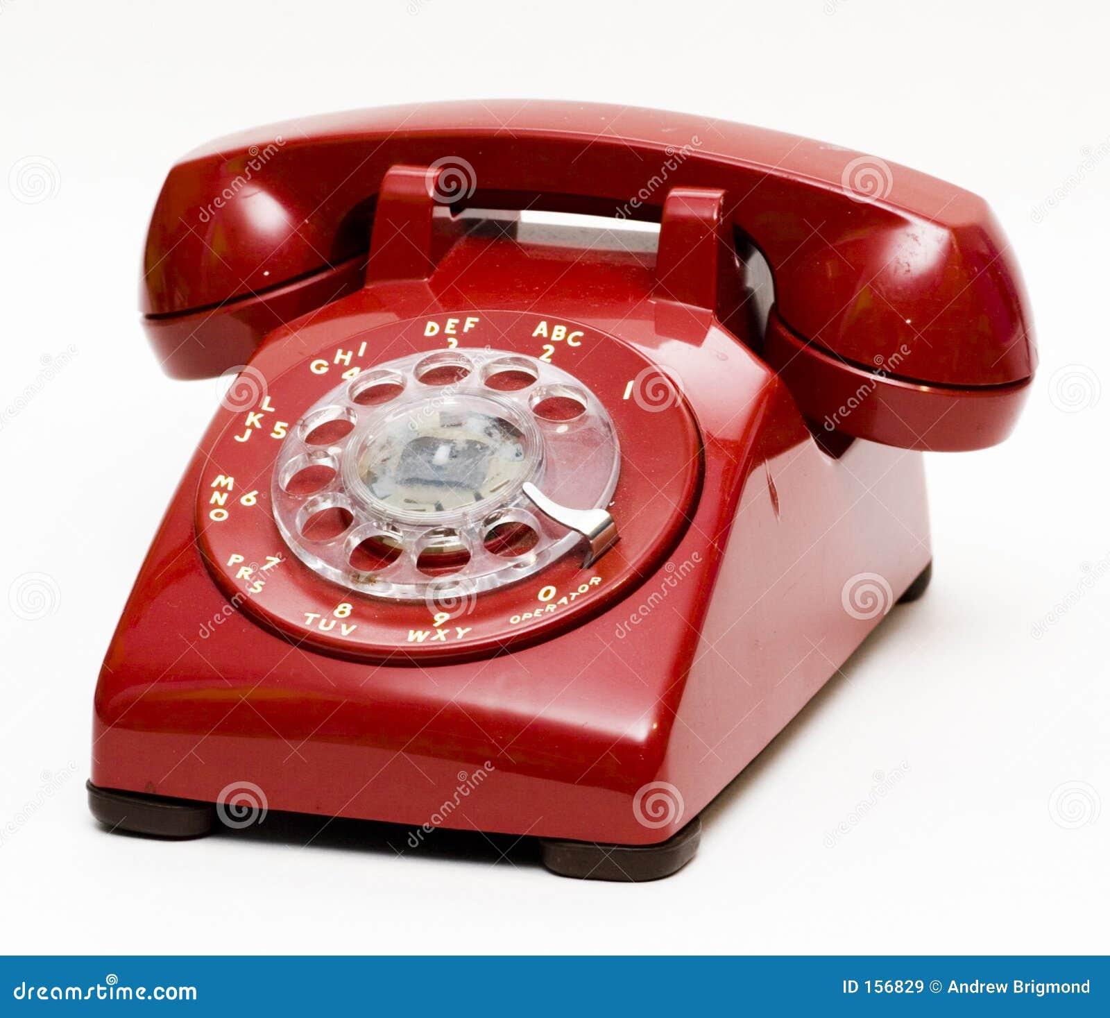 роторное античного телефона красное