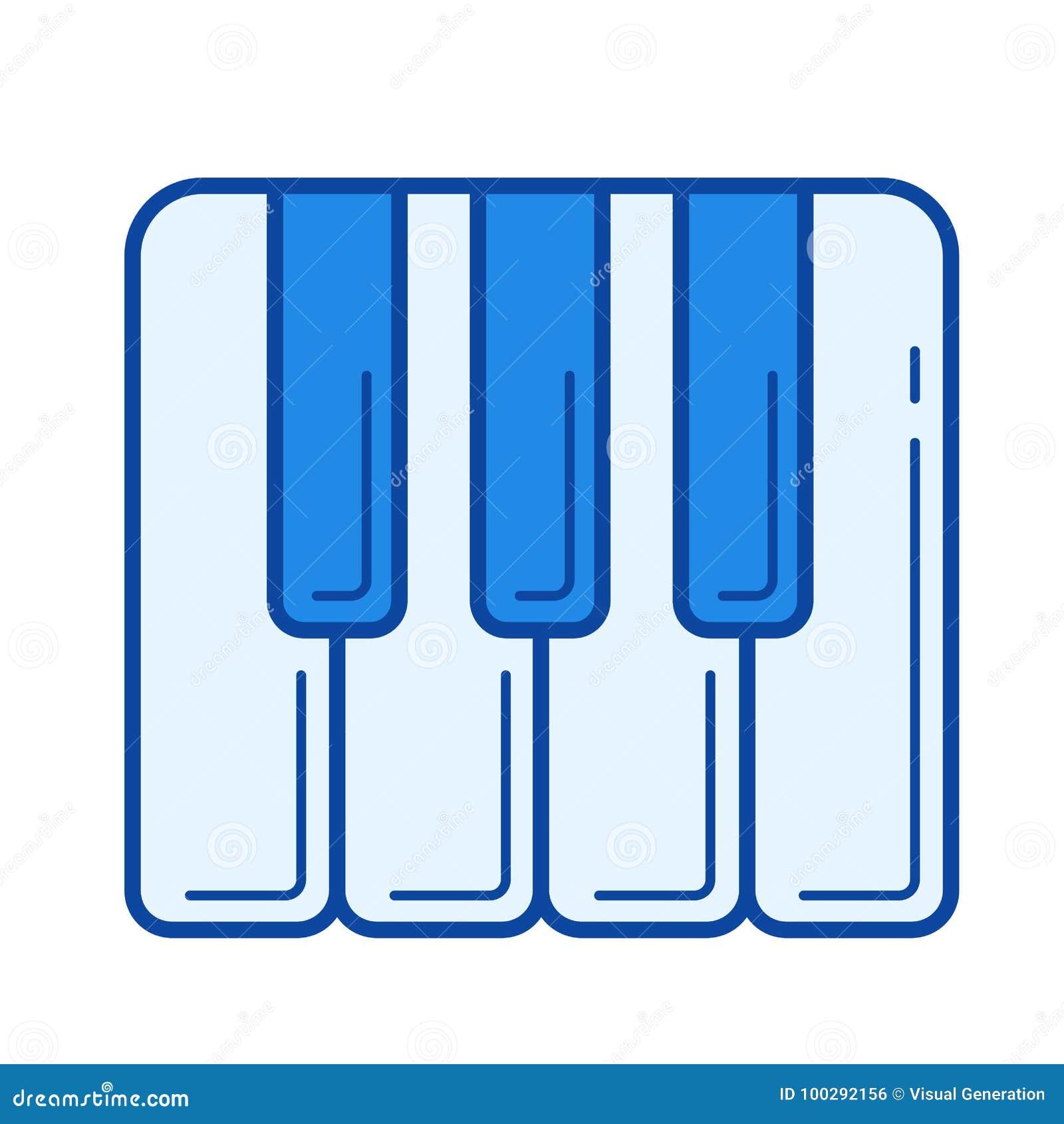 Рояль пользуется ключом линия значок