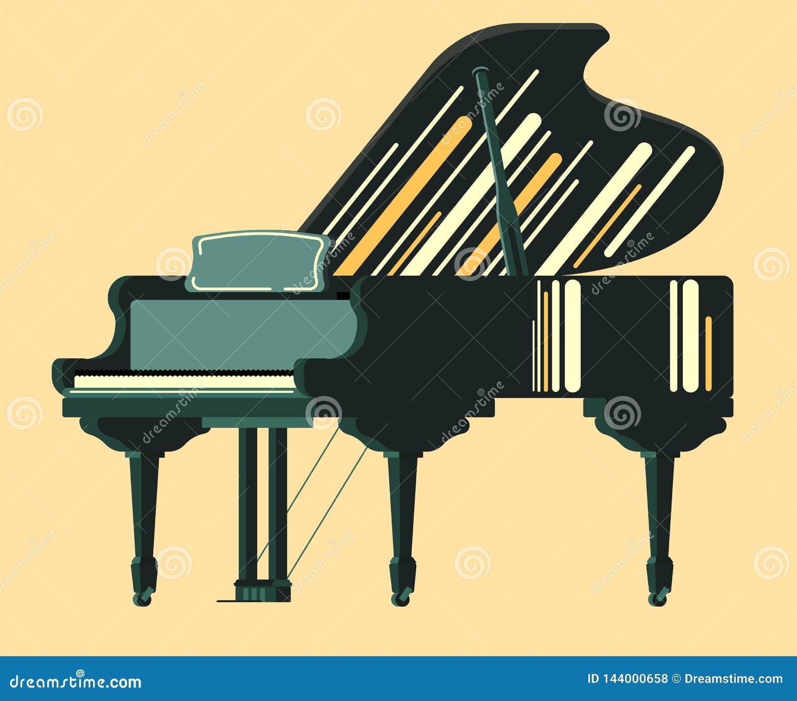Рояль черноты аппаратуры Musicial