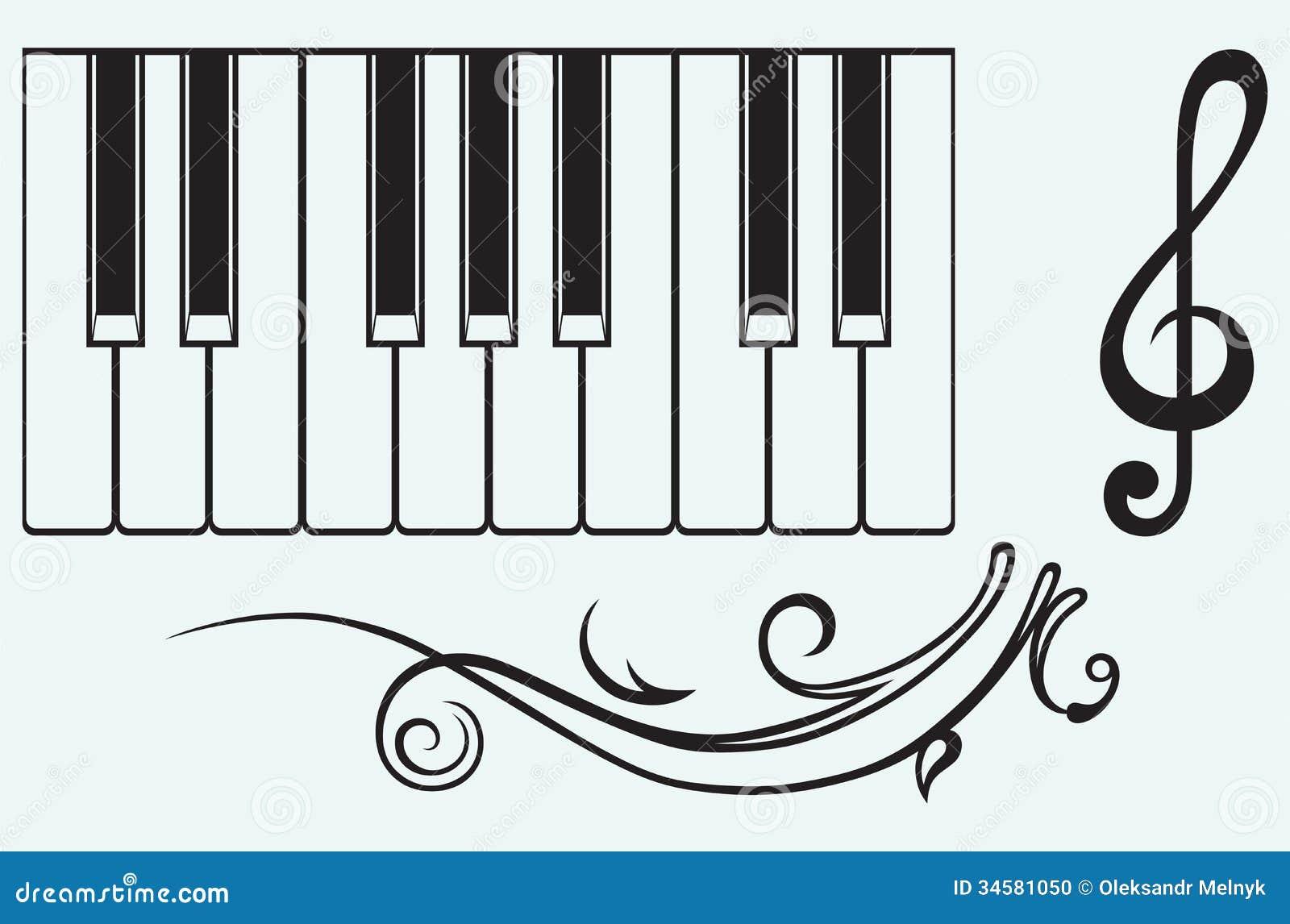 Рояль и дискантовый ключ