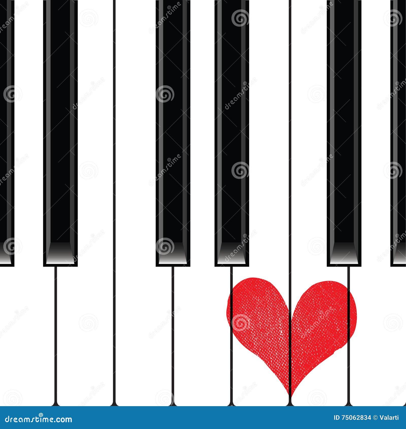 Рояль музыки влюбленности сердца