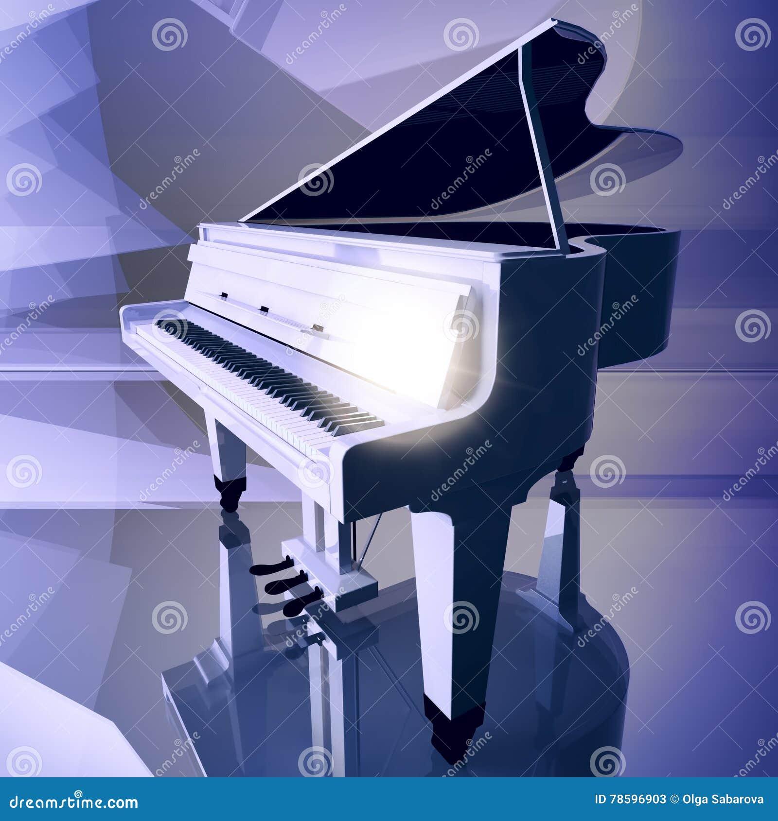 белый рояль картинки на сцене никогда
