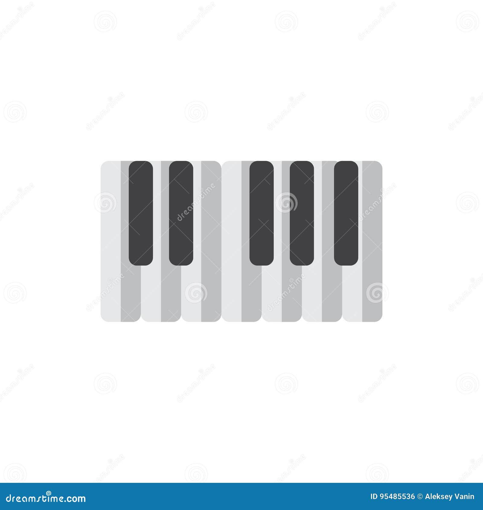 Рояль пользуется ключом плоский значок, заполненный знак вектора, красочная пиктограмма изолированная на белизне
