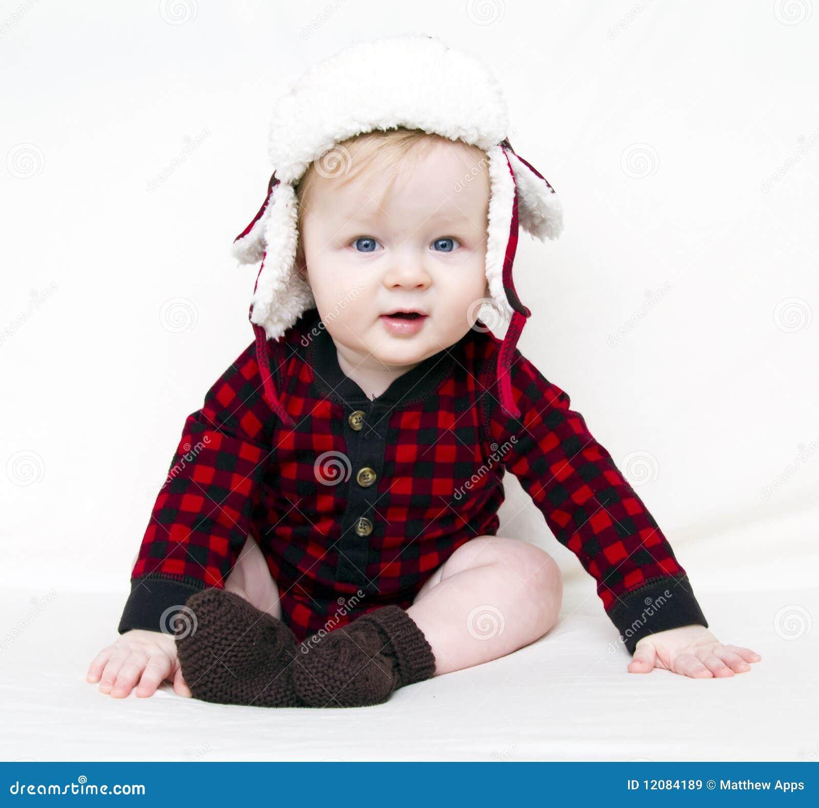 рубашка красного цвета шлема рождества младенца