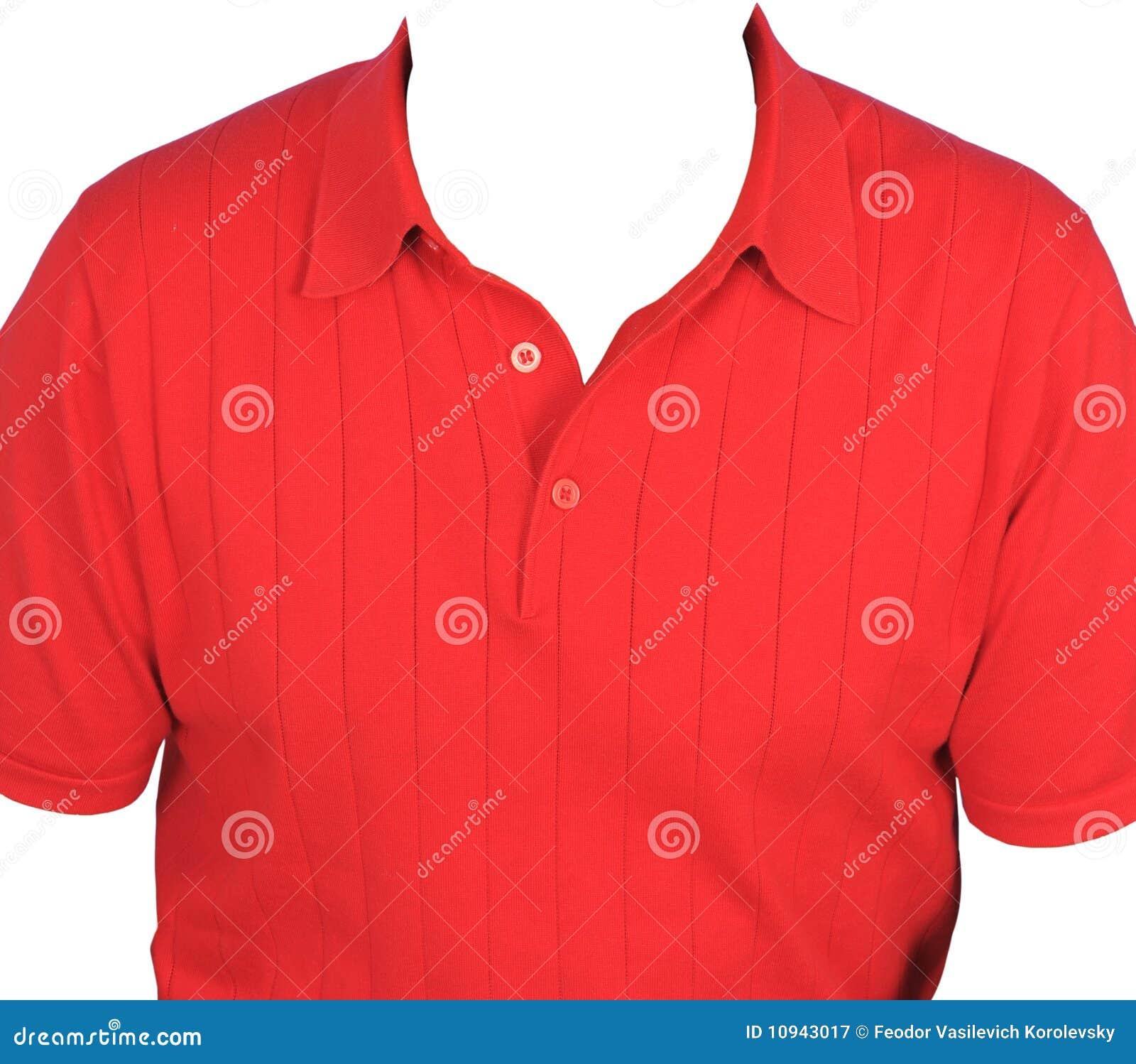 рубашка человека красная s