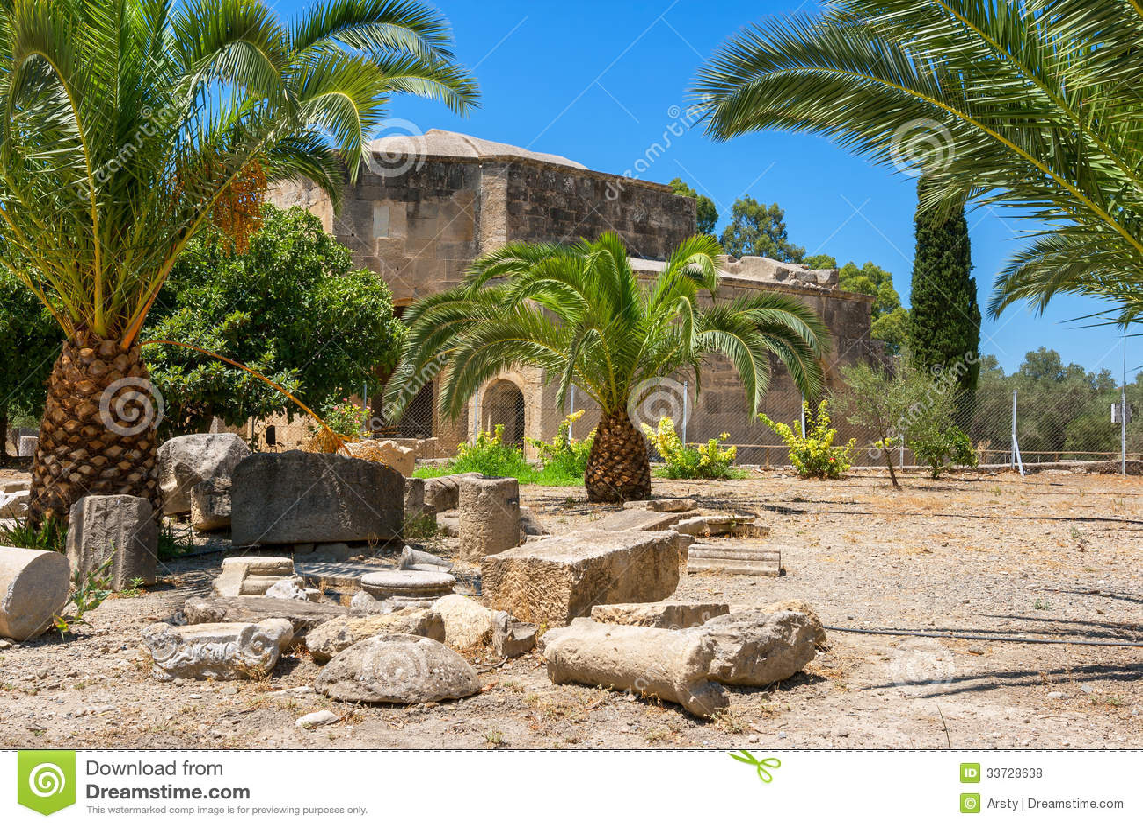 Руины Gortyn. Крит, Греция